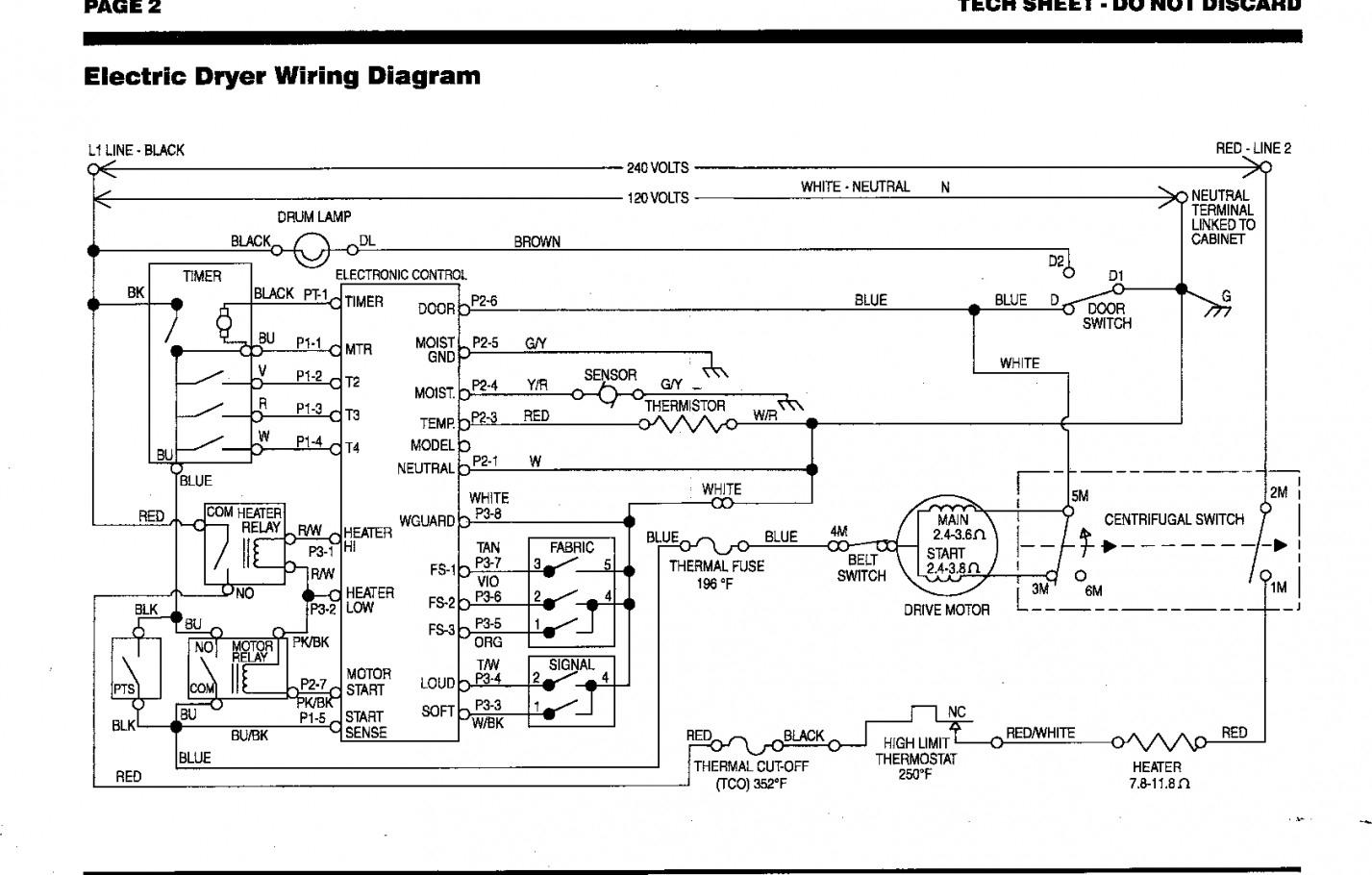 Dryer Schematic | Wiring Diagram - Kenmore Dryer Wiring Diagram
