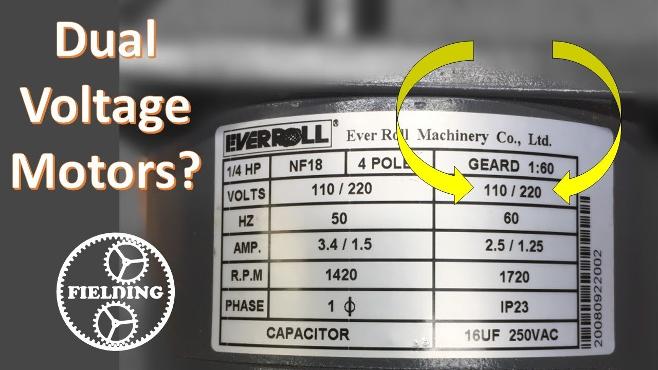 Dual Voltage Motors, How They Work, And Wiring Them Without The Wire - Electric Motor Wiring Diagram 220 To 110