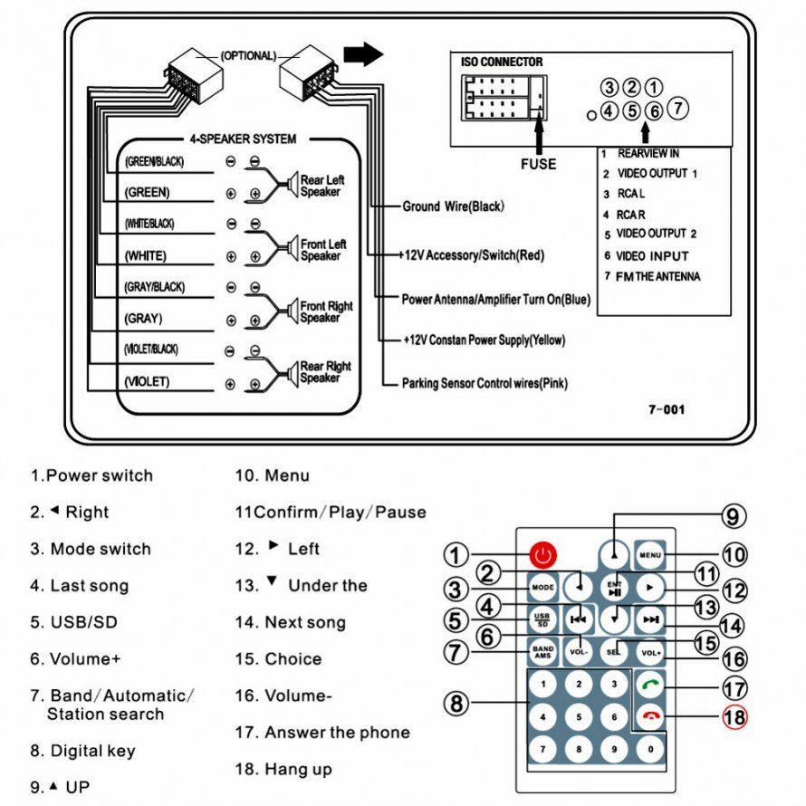 Dvd Car Radio Wiring Color Diagram | Best Wiring Library - 7010B Stereo Wiring Diagram