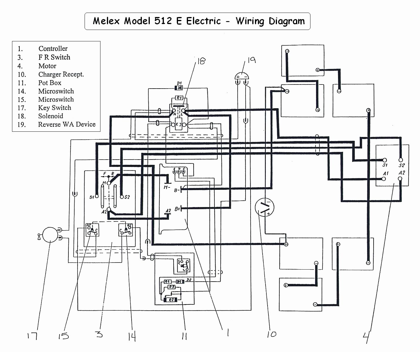 E Z Go Golf Cart Batteries Wiring Diagram | Wiring Diagram - 48 Volt Golf Cart Battery Wiring Diagram