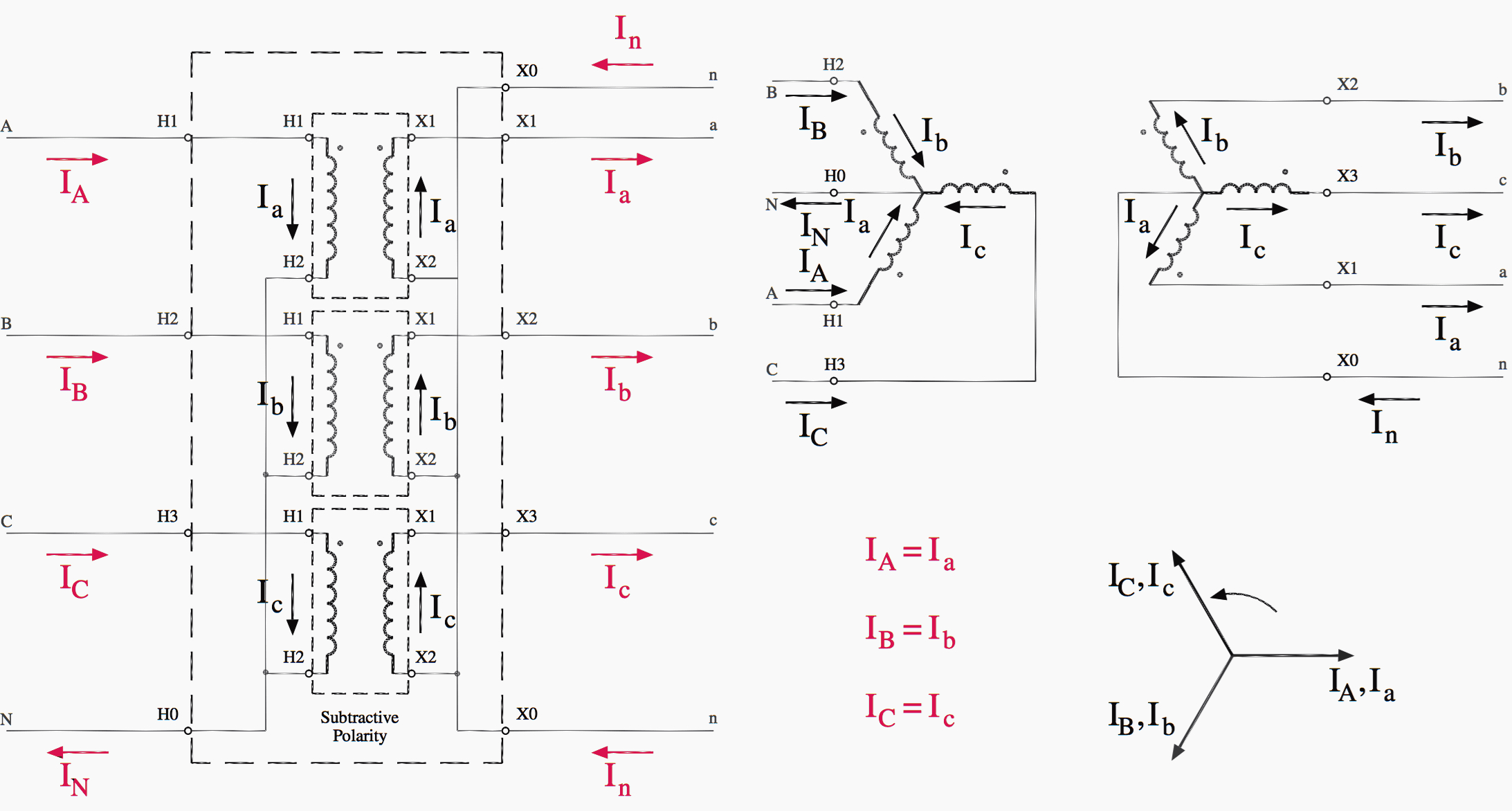 Easy Understanding Of 3-Phase Transformer Connections (Delta–Delta - 3 Phase Transformer Wiring Diagram