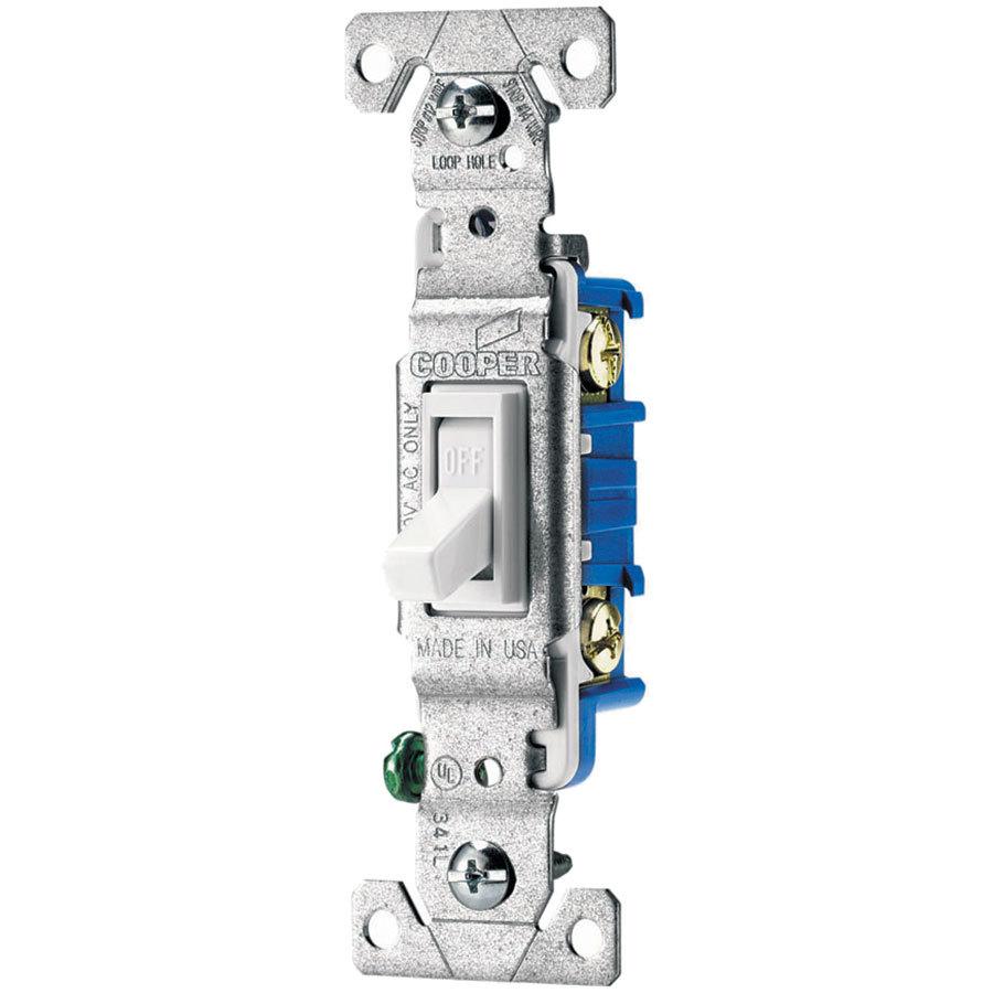 Eaton 15-Amp Single-Pole White Toggle Light Switch At Lowes - Single Pole Light Switch Wiring Diagram