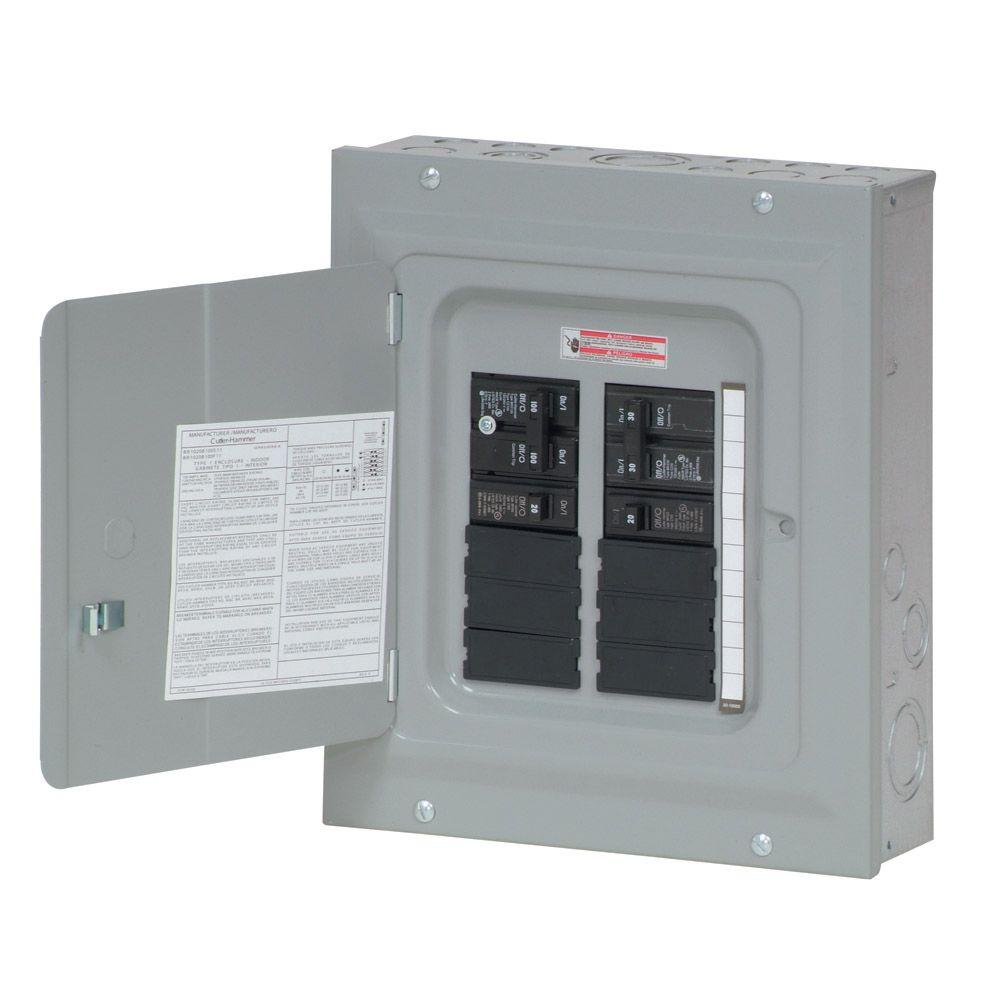 Eaton Br 100 Amp 10 Space 20 Circuit Indoor Main Breaker Renovation - 100 Amp Electrical Panel Wiring Diagram