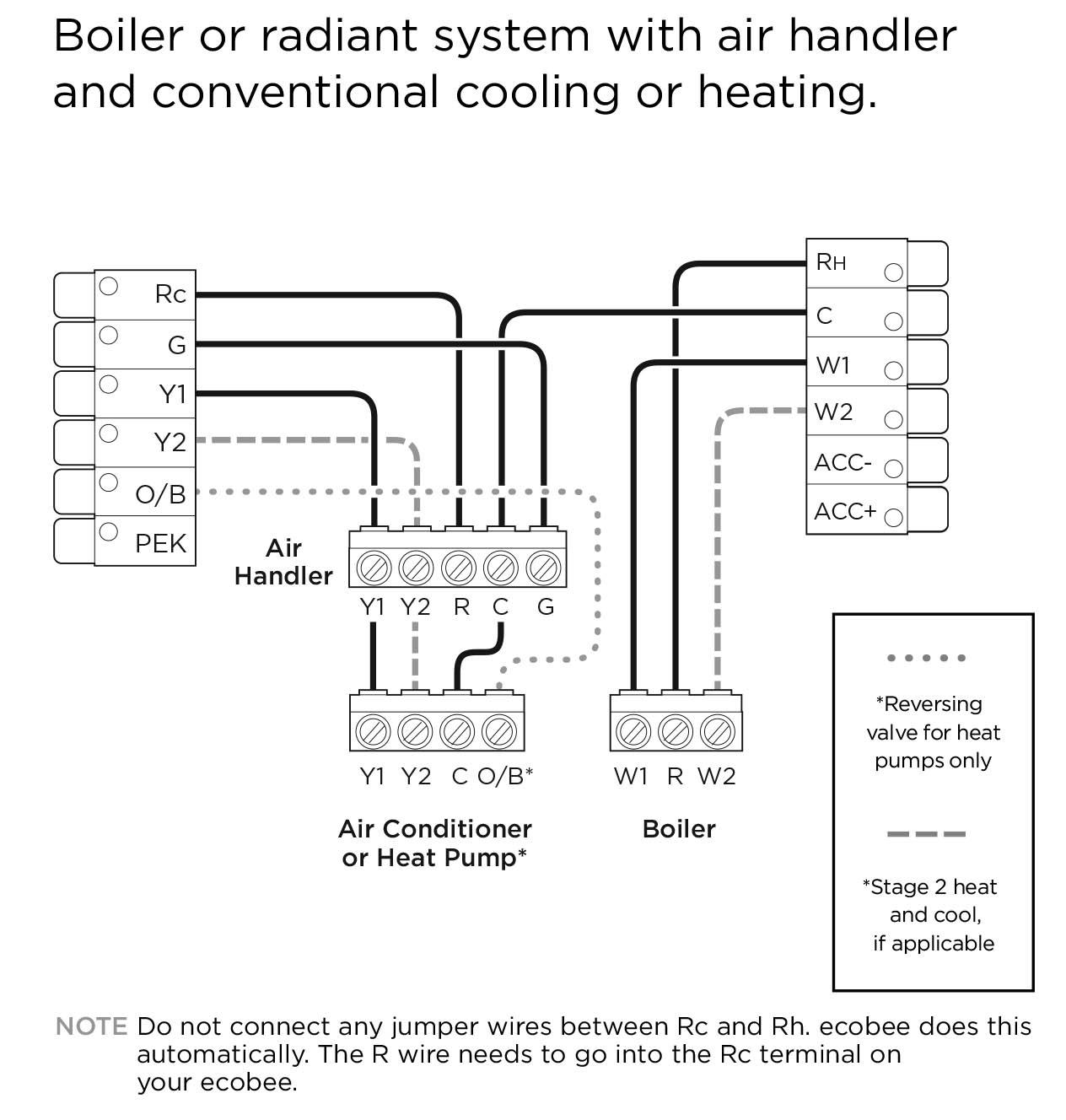 Ecobee4 Wiring Diagrams – Ecobee Support - Ecobee4 Wiring Diagram