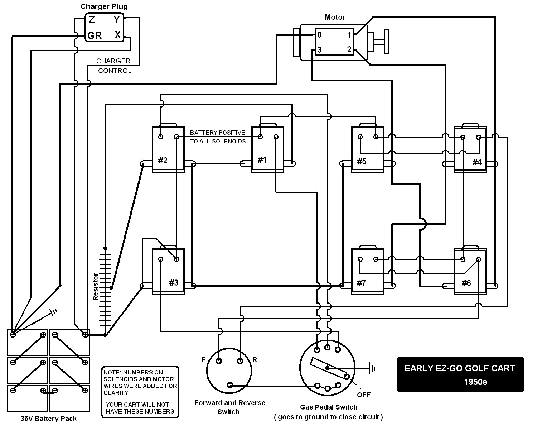 Electric Golf Cart 36 Volt Ezgo Wiring Diagram   Manual E-Books - Ez Go Wiring Diagram 36 Volt