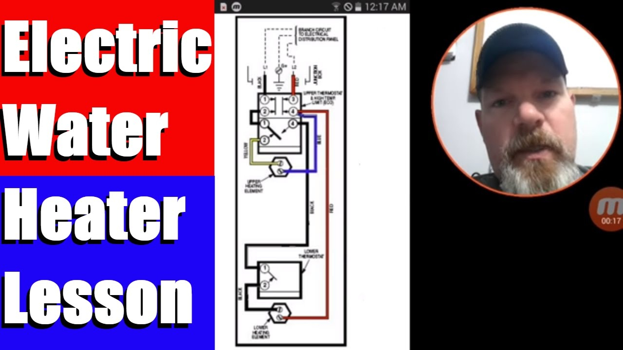 Electric Water Heater Lesson Wiring Schematic And Operation - Youtube - Hot Water Heater Wiring Diagram