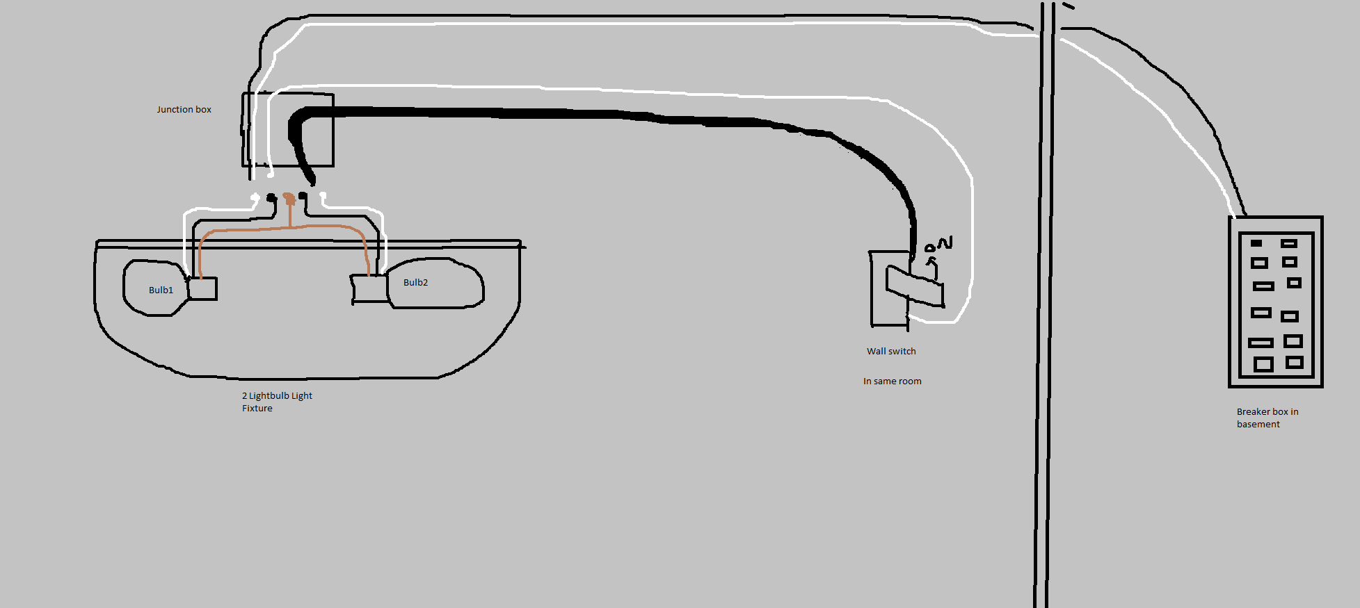 Electrical - 4 Wires In Ceiling Box, 2 On New Light - Help With - Breaker Box Wiring Diagram