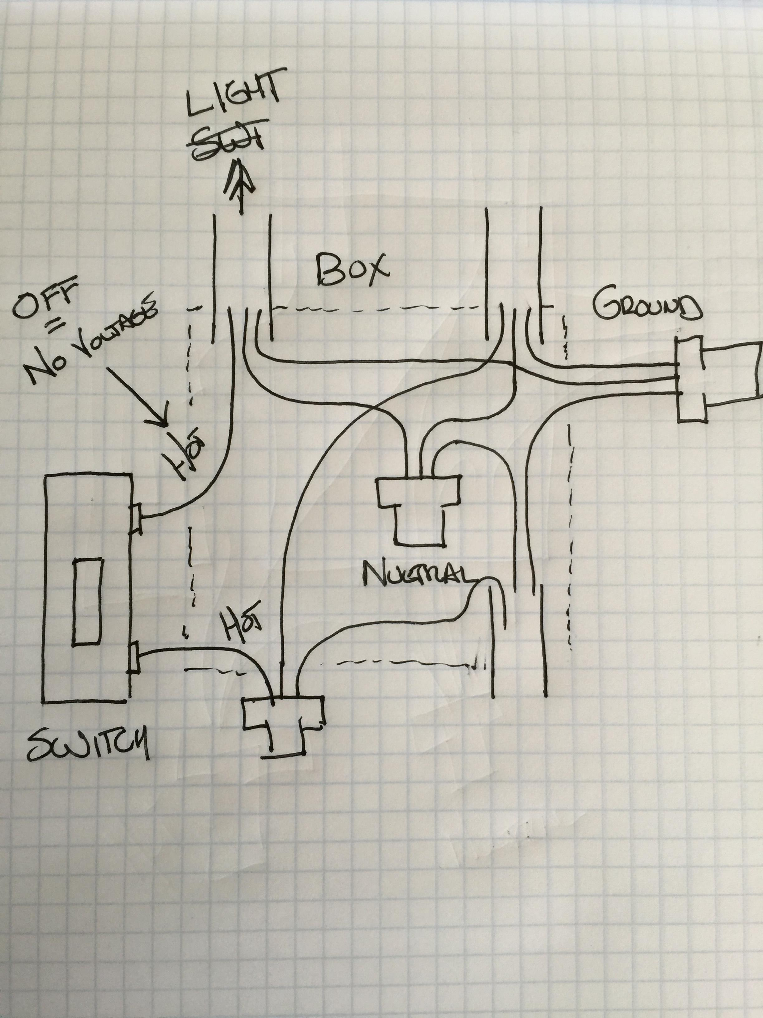 Electrical - How Can I Replace A Single Pole Light Switch With Z - Single Pole Light Switch Wiring Diagram