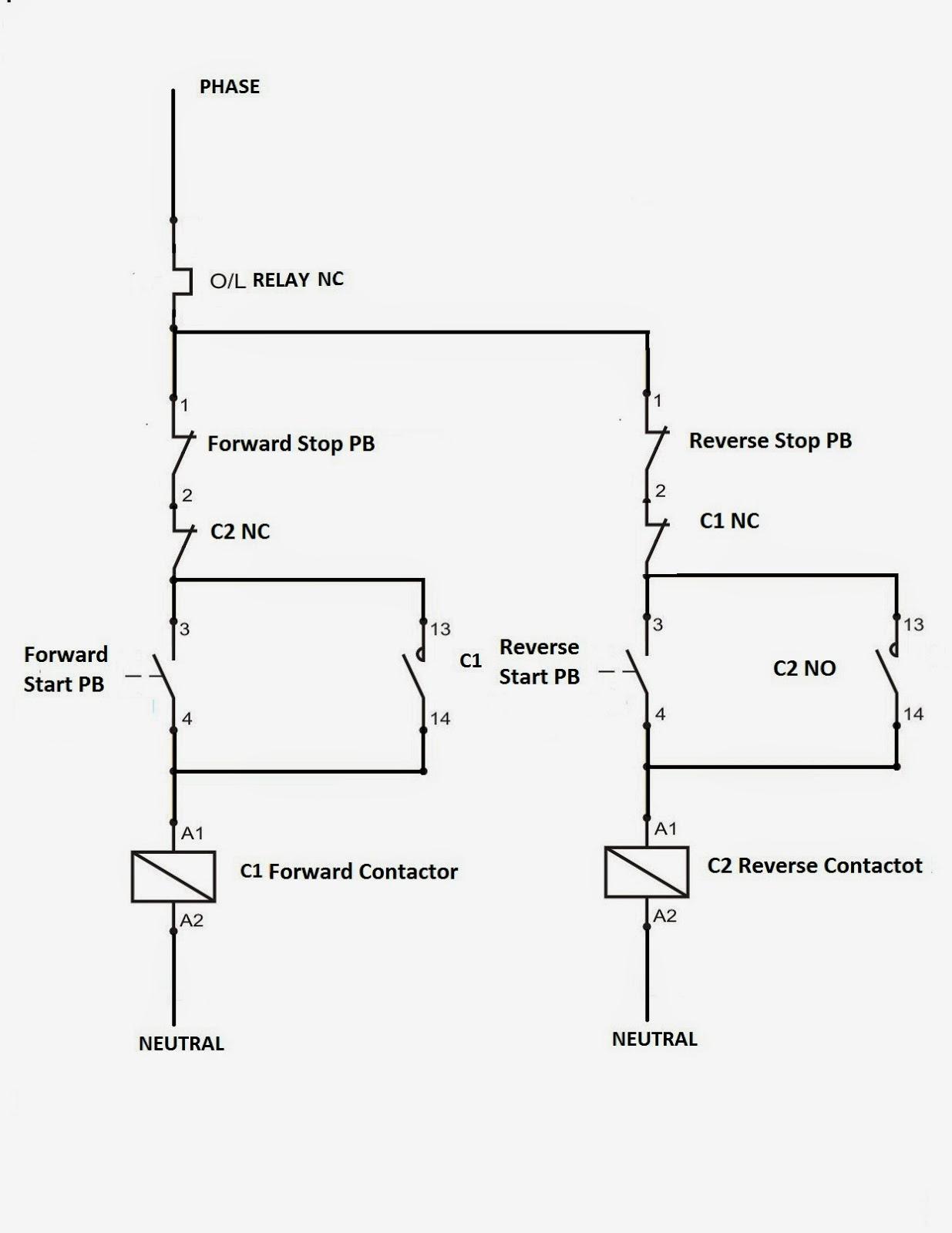 Electrical Standards: Direct Online Applications Reverse Forward - Motor Starter Wiring Diagram