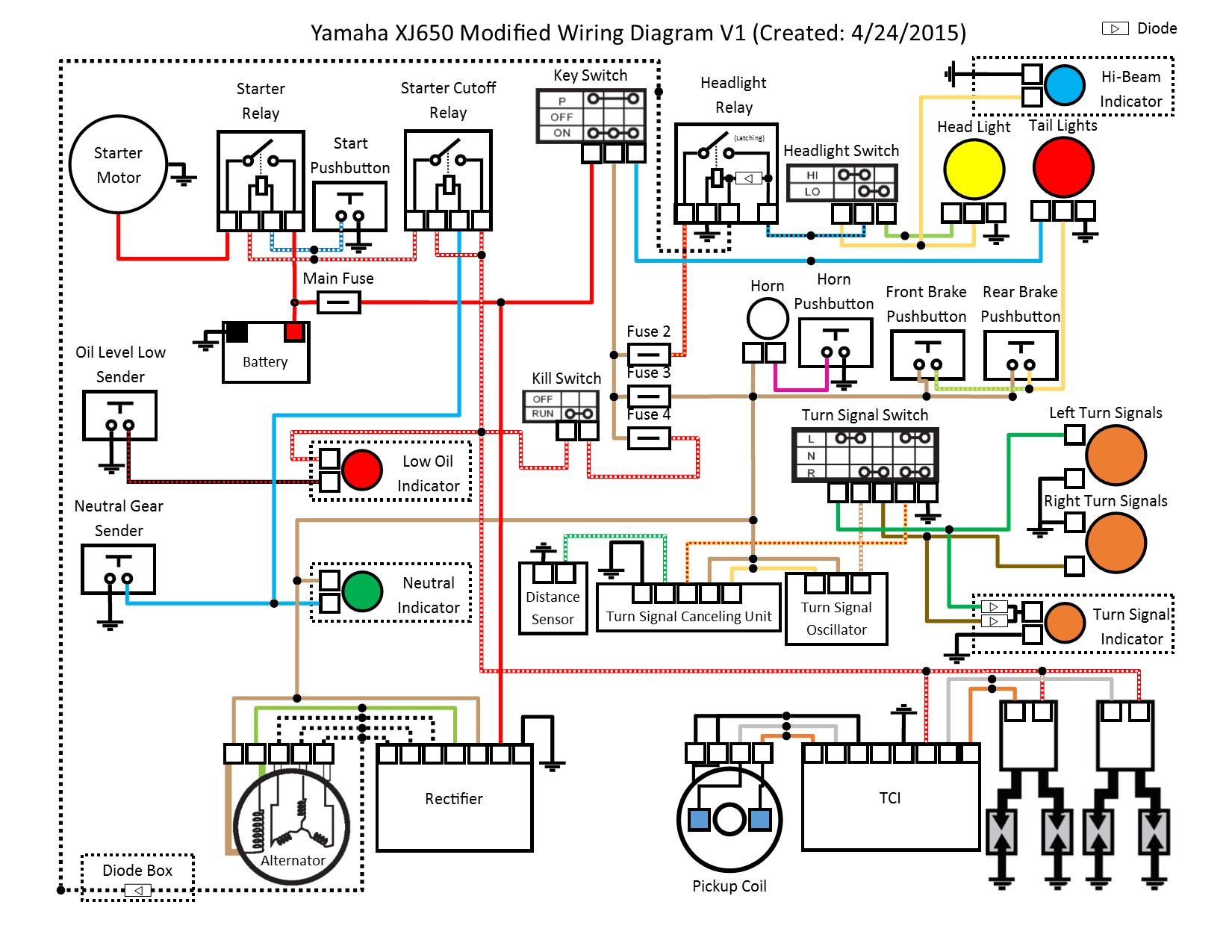 Electrical Wiring Diagram Of Motorcycle | Manual E-Books - Electrical Wiring Diagram