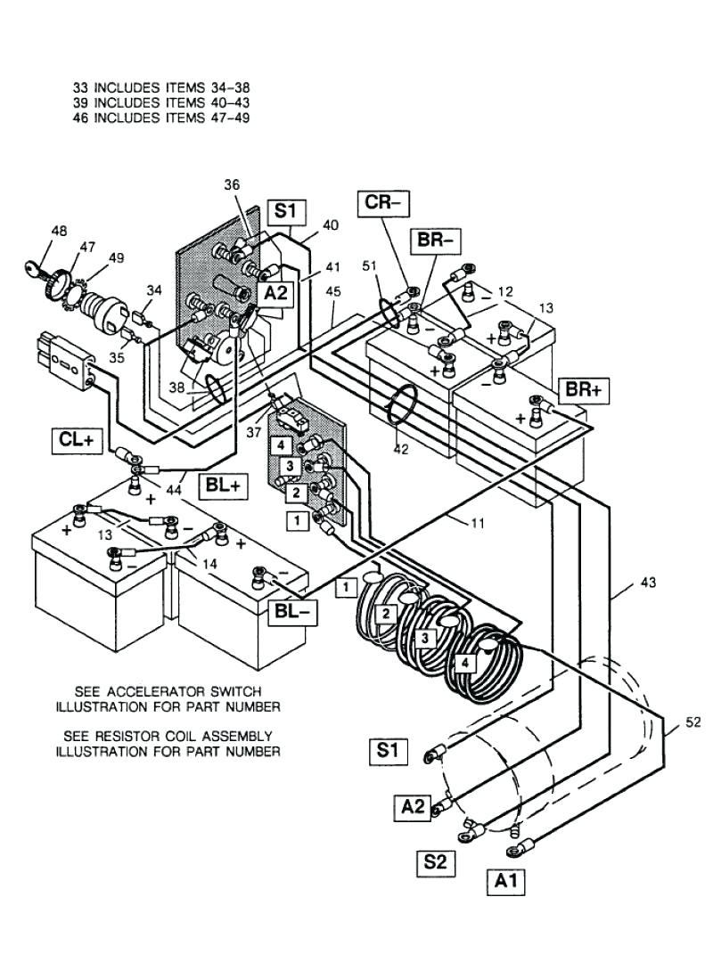 Ez Go Battery Wiring Diagram Serial 937884 | Wiring Diagram - E Z Go Golf Cart Batteries Wiring Diagram