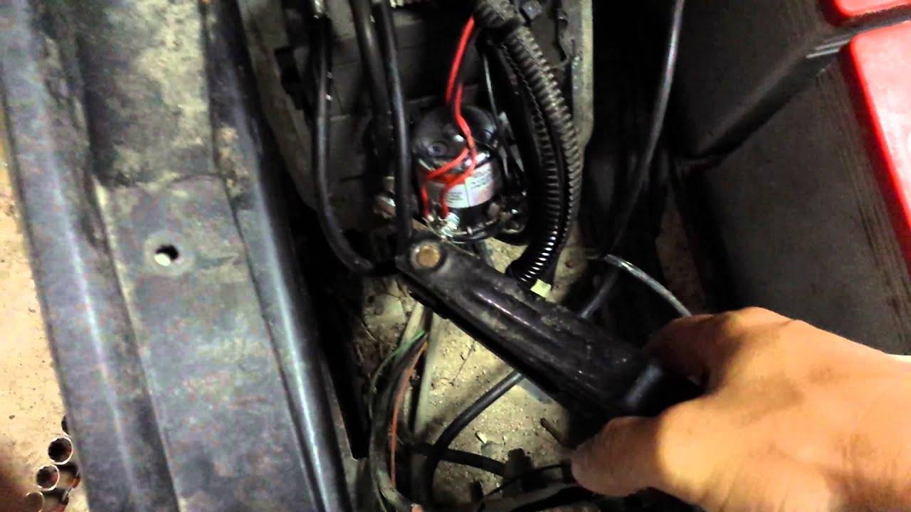 Ezgo Golf Cart Help Solenoid Issue - Youtube - Ez Go Golf Cart Wiring Diagram Gas Engine