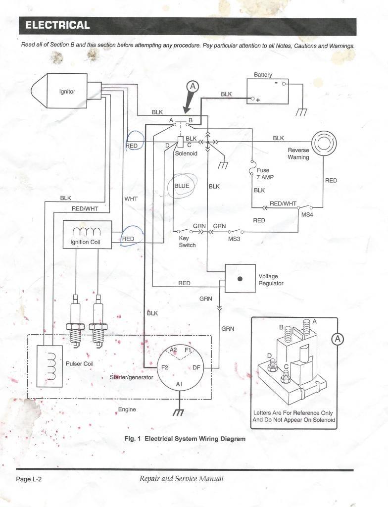 Ezgo Starter Generator Wiring Diagram In Golf Cart Gas For Ezgo