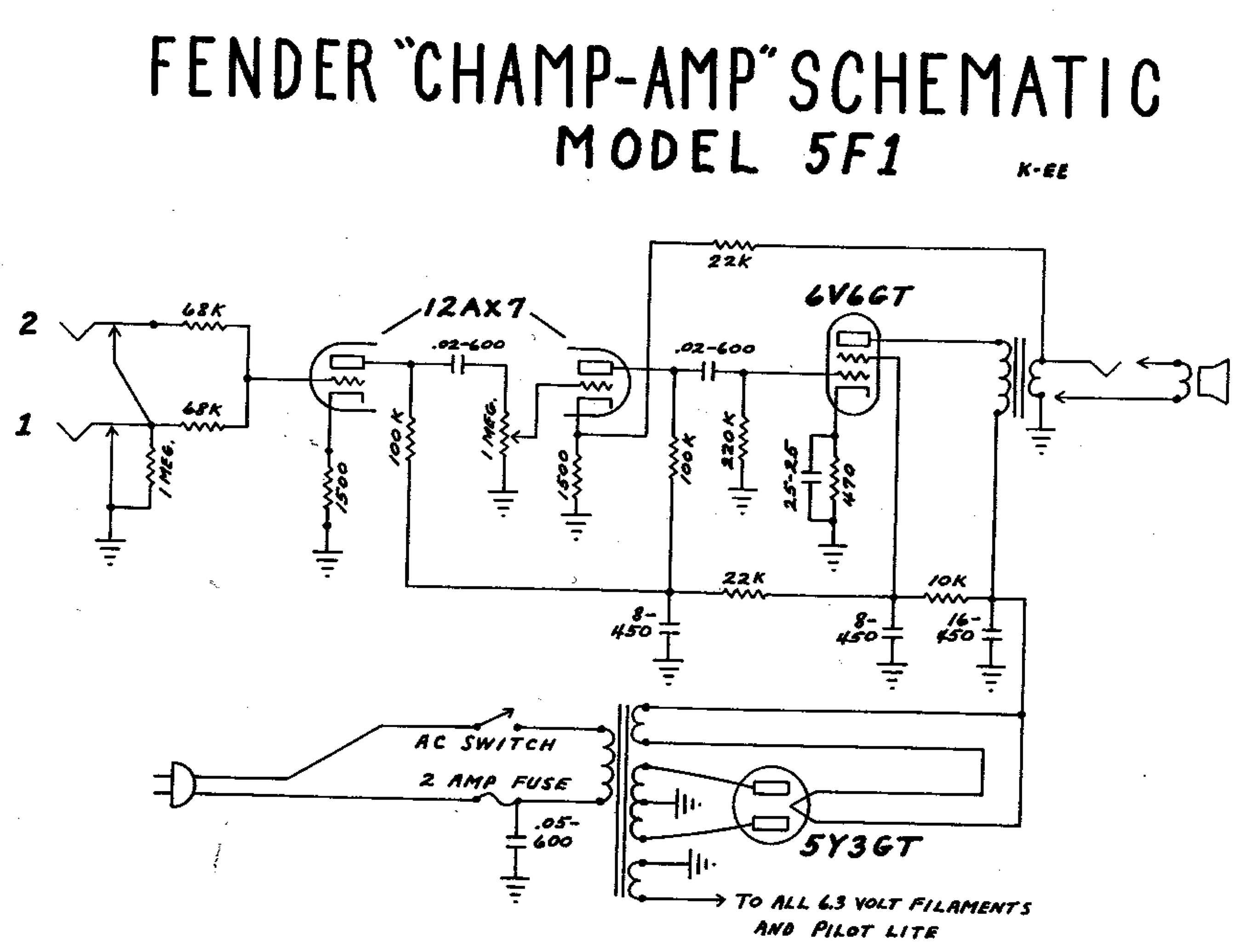 Fender Mustang Wiring Schematic | Wiring Library - Fender Mustang Wiring Diagram