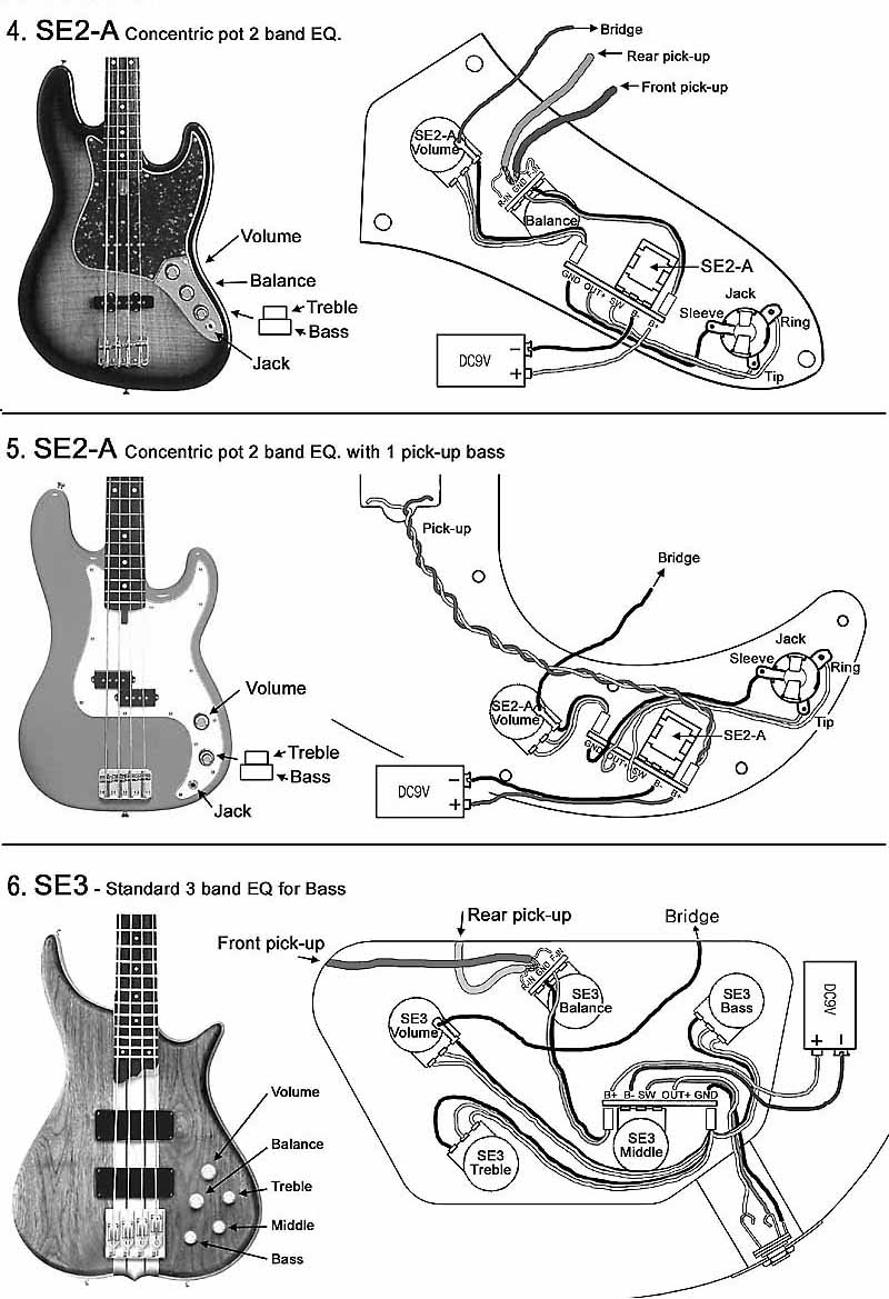 Fender P Bass Wiring Schematic | Manual E-Books - Fender P Bass Wiring Diagram