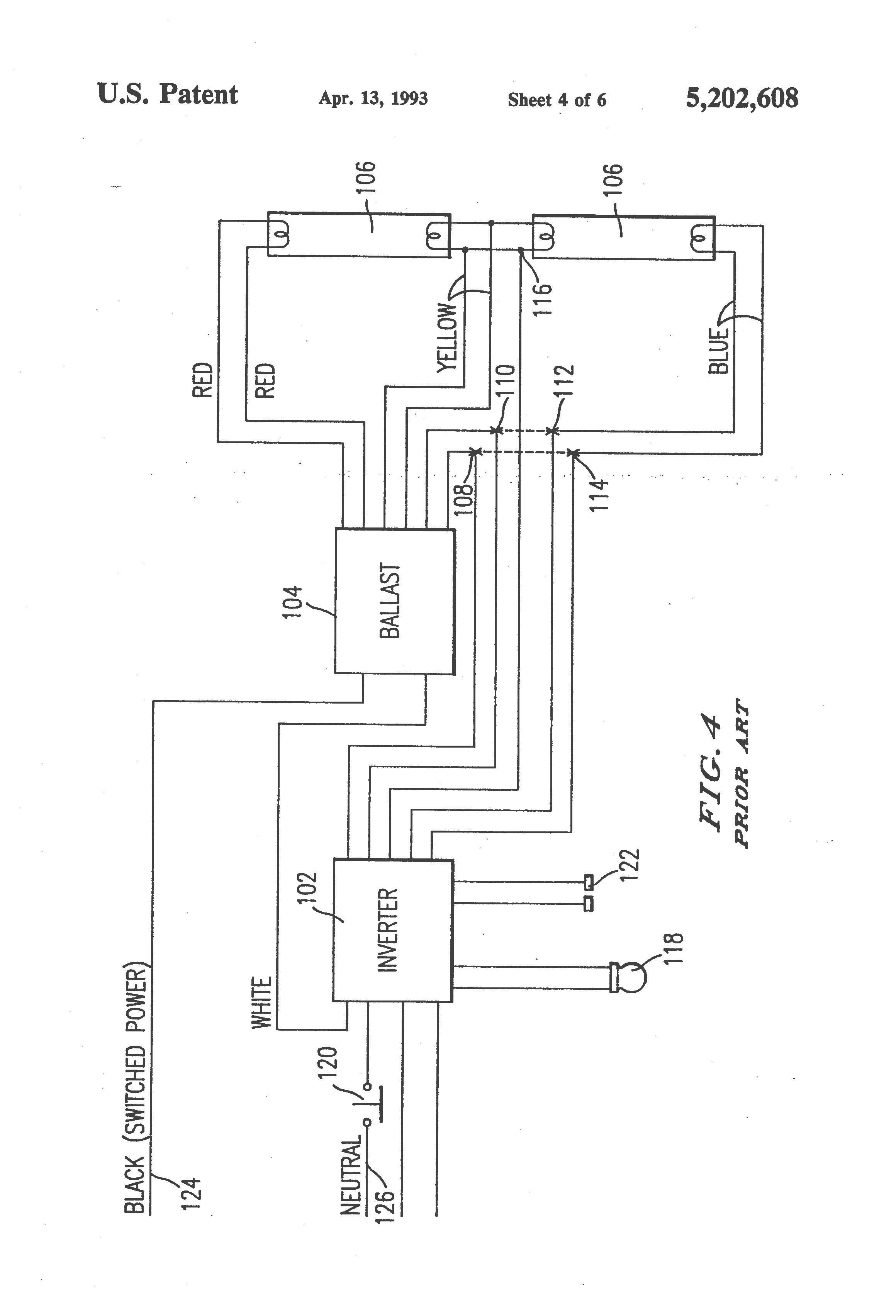 Fluorescent Emergency Ballast Wiring Diagram - Wiring Diagram - Ballast Wiring Diagram
