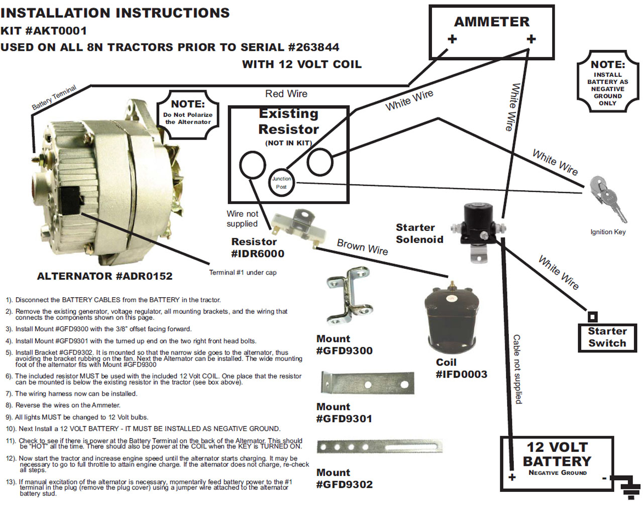 Ford 8N Alternator Conversion Diagram | Manual E-Books - Ford 8N 12 Volt Conversion Wiring Diagram