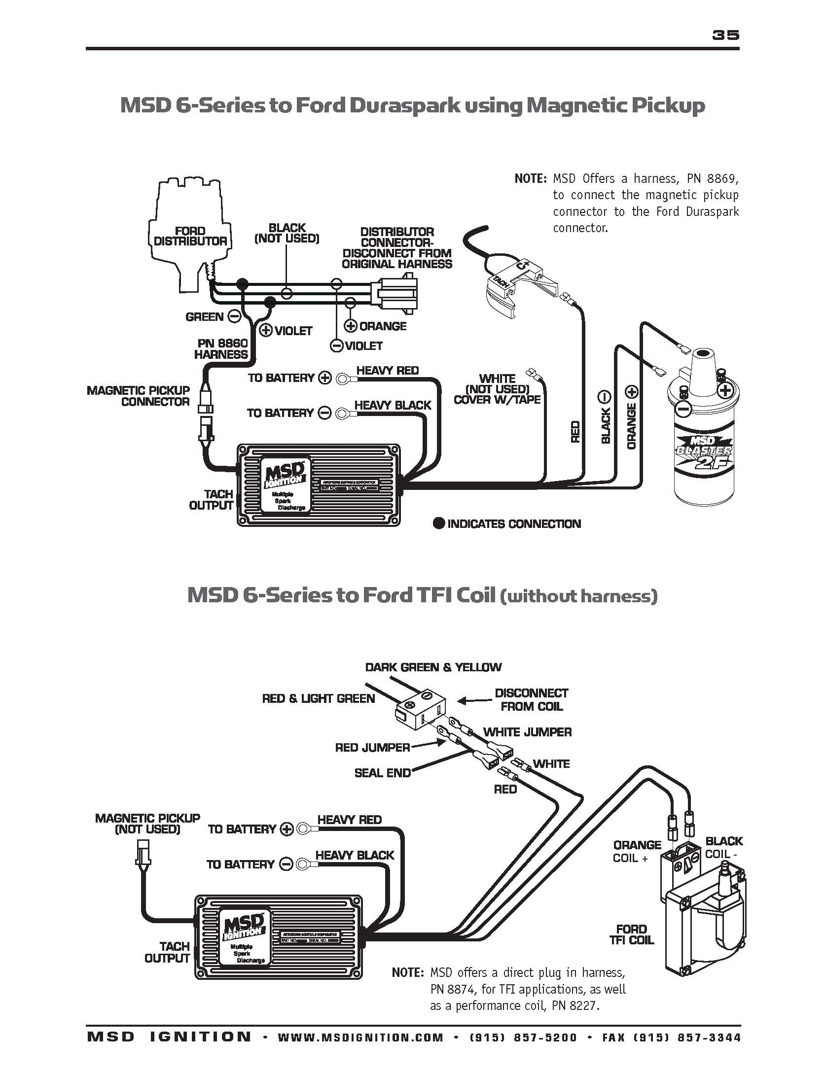 Ford Msd Ignition Wiring Diagram 6 - Data Wiring Diagram Today - Msd 6Al Wiring Diagram Ford