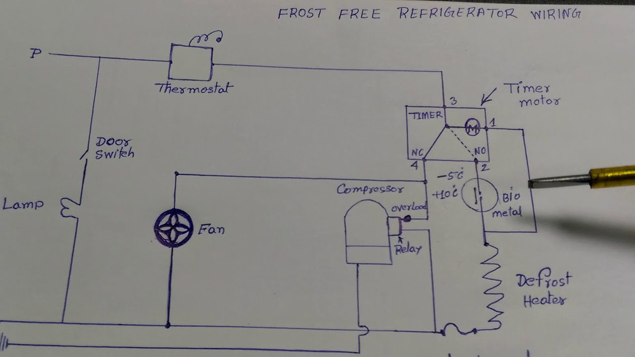 Frost Free Refrigerator Wiring Diagram In Hindi - Youtube - Refrigerator Wiring Diagram