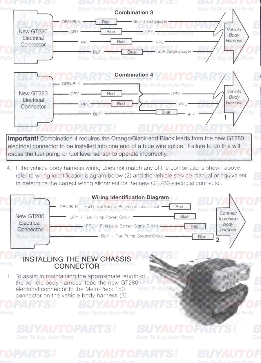 Fuel Pump Install Wiring Instructions - Fuel Pump Wiring Harness Diagram