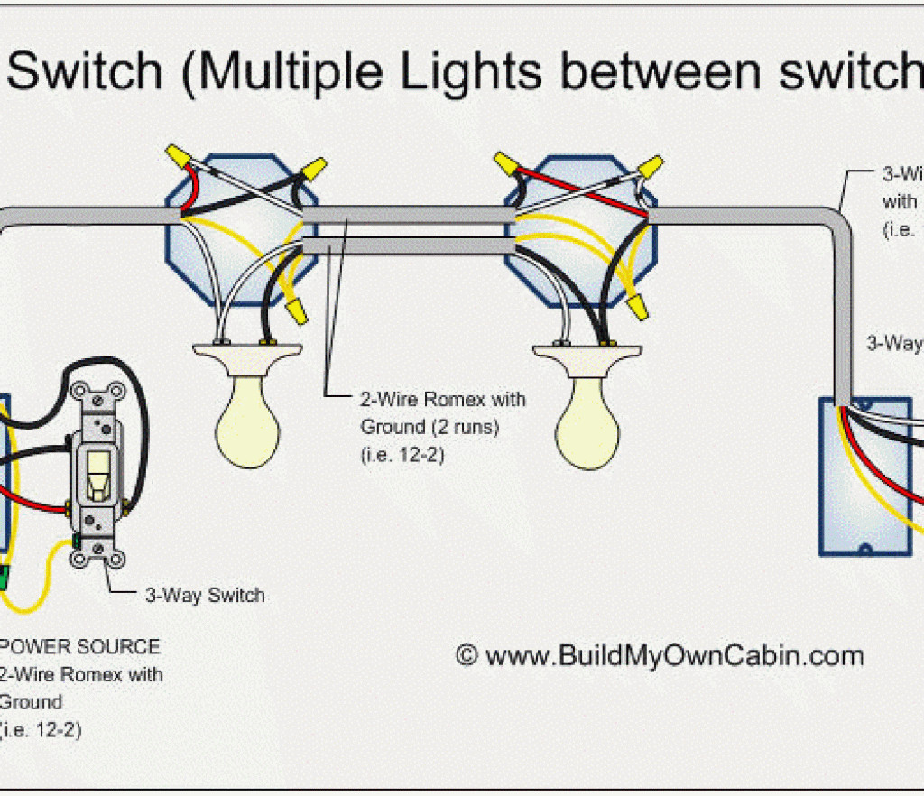 Gang Way Light Switch Wiring Diagram One Diagrams And Multiple - 3 Way Switch Wiring Diagram Multiple Lights