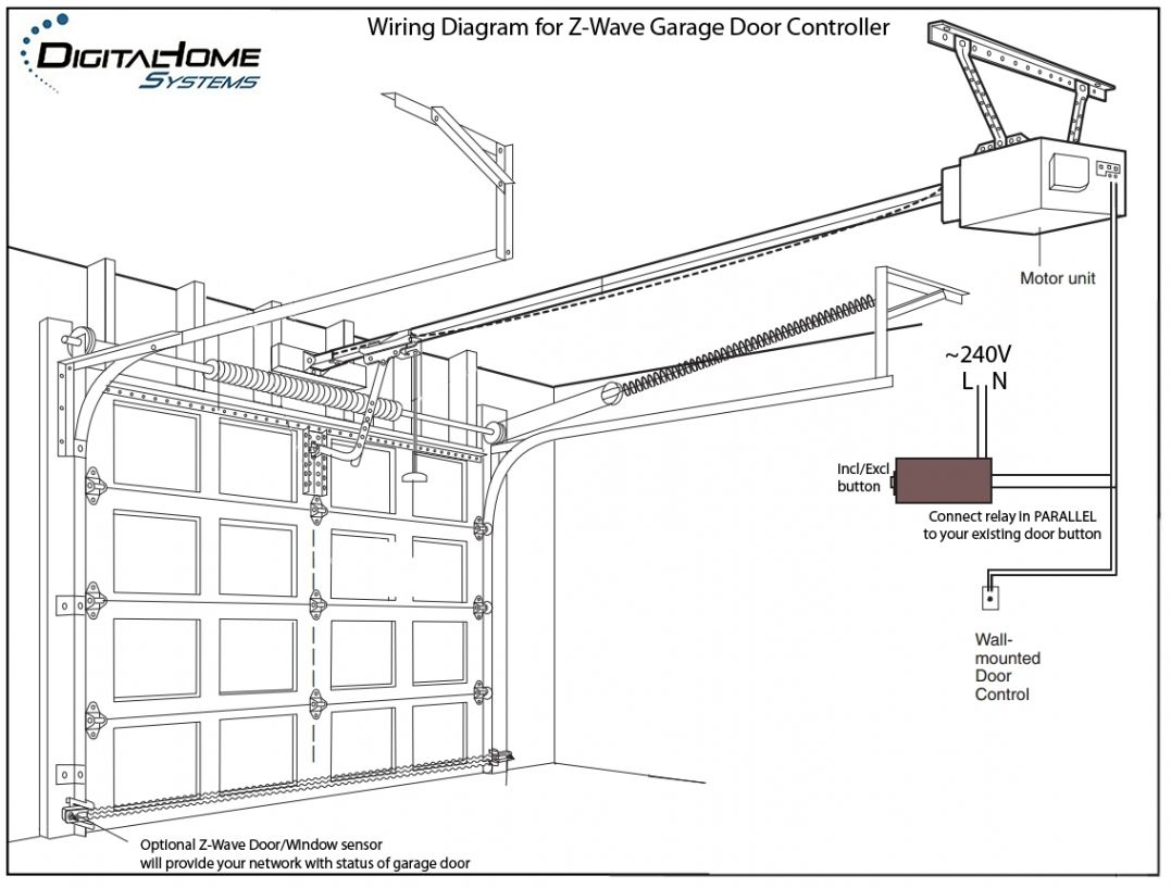 Garage Door Opener Wiring Diagrams | Manual E-Books - Garage Door Opener Wiring Diagram