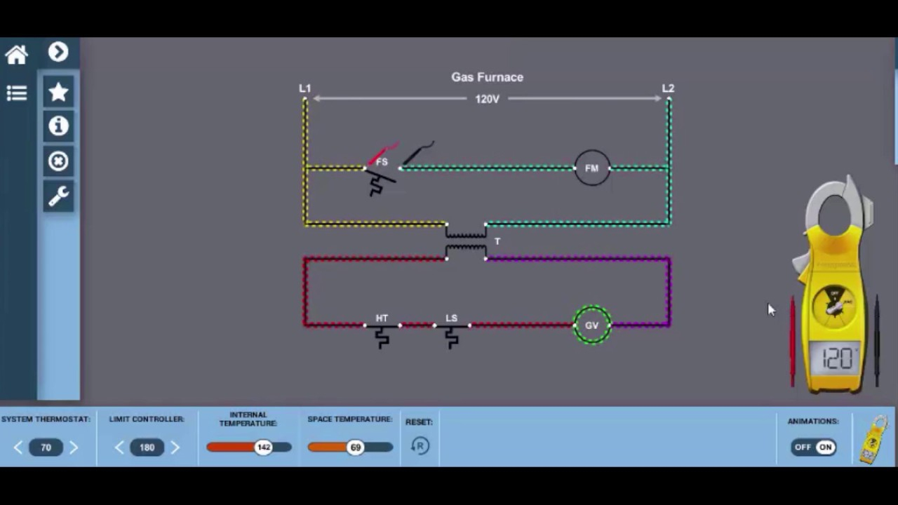 Gas Furnace Wiring Diagram Electricity For Hvac - Youtube - Gas Furnace Wiring Diagram