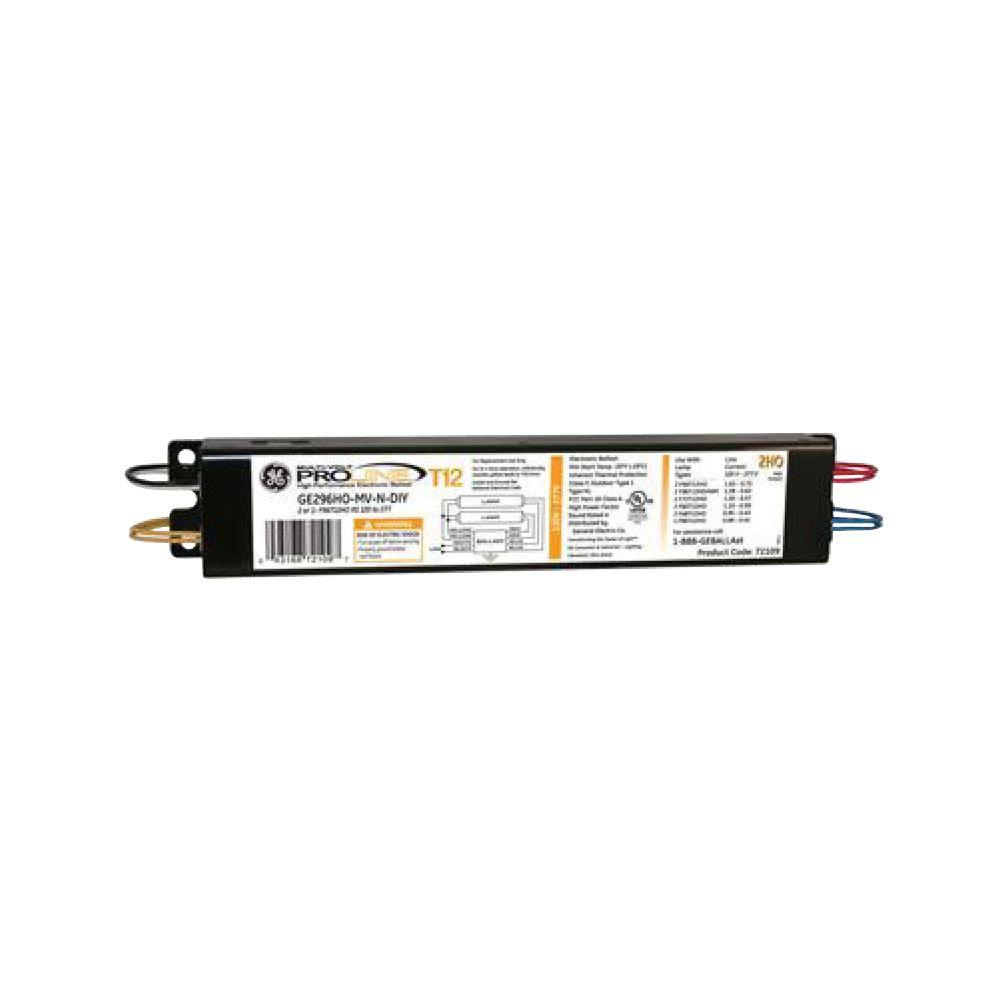 Ge 120 To 277-Volt Electronic Ballast For Hi-Output 8 Ft. 2-Lamp T12 - 2 Lamp T12 Ballast Wiring Diagram
