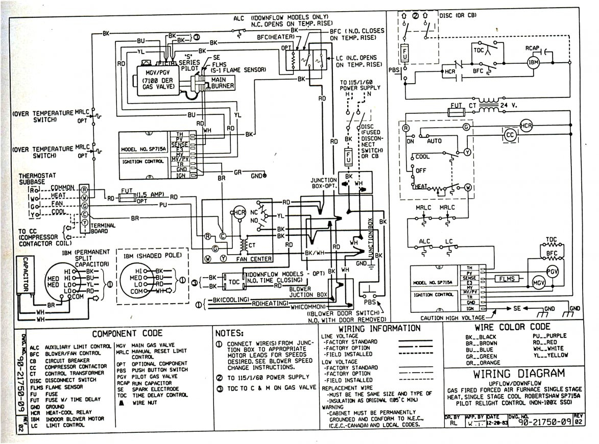 Ge Gas Furnace Wiring | Wiring Diagram - Gas Furnace Wiring Diagram