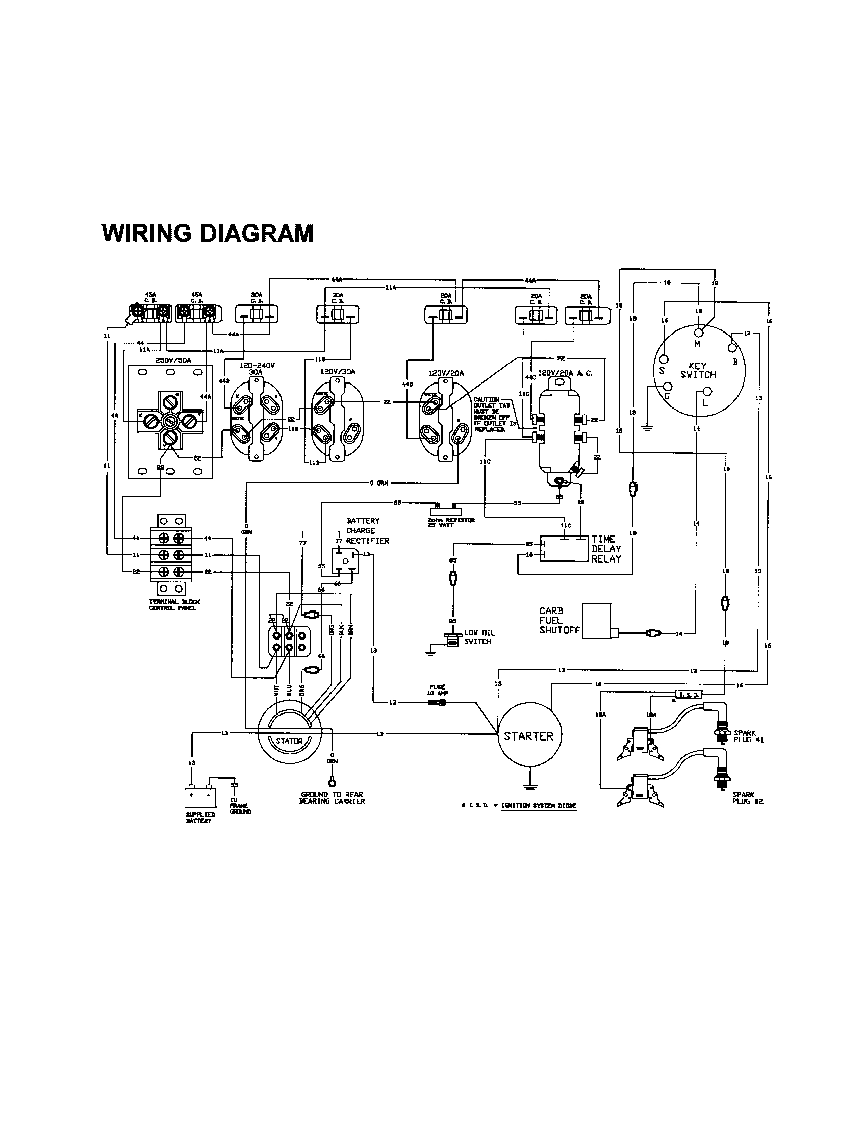 Generac 6500E Generator Wiring Diagram | Manual E-Books - Generac Generator Wiring Diagram