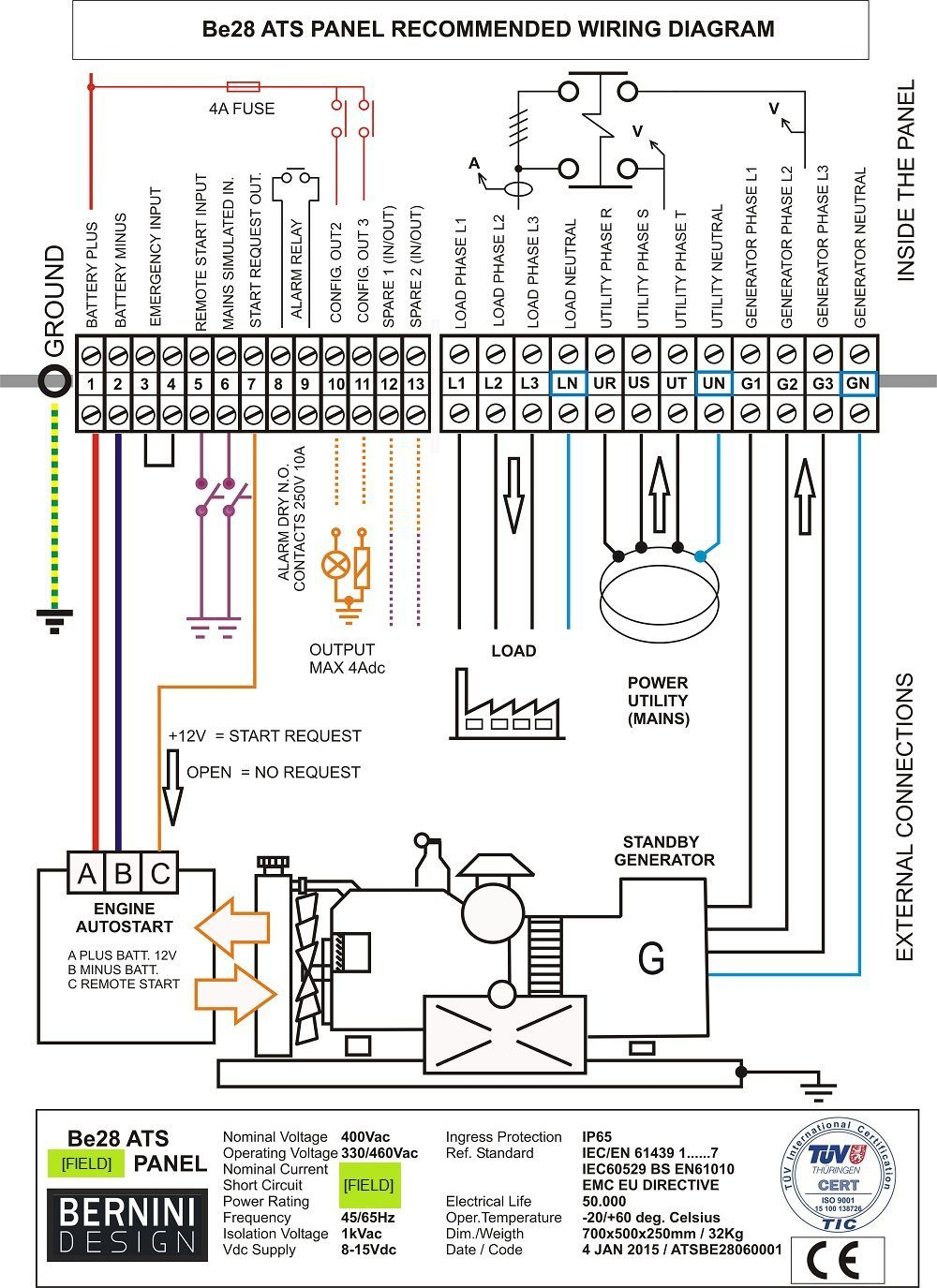 Generac Automatic Transfer Switch Wiring Diagram And Generator - Generac Transfer Switch Wiring Diagram