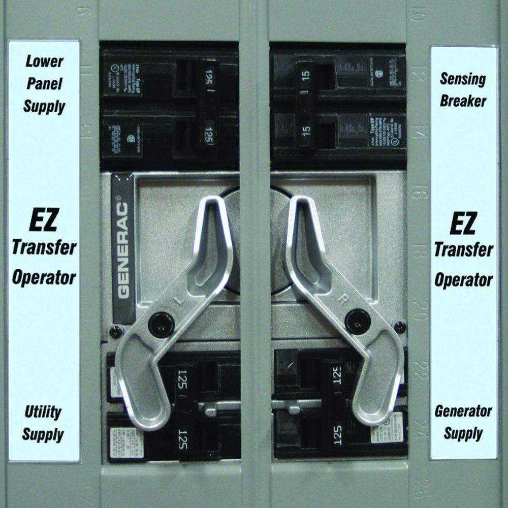 Generac - Transfer Switches - Generator Accessories - The Home Depot - Generac Manual Transfer Switch Wiring Diagram