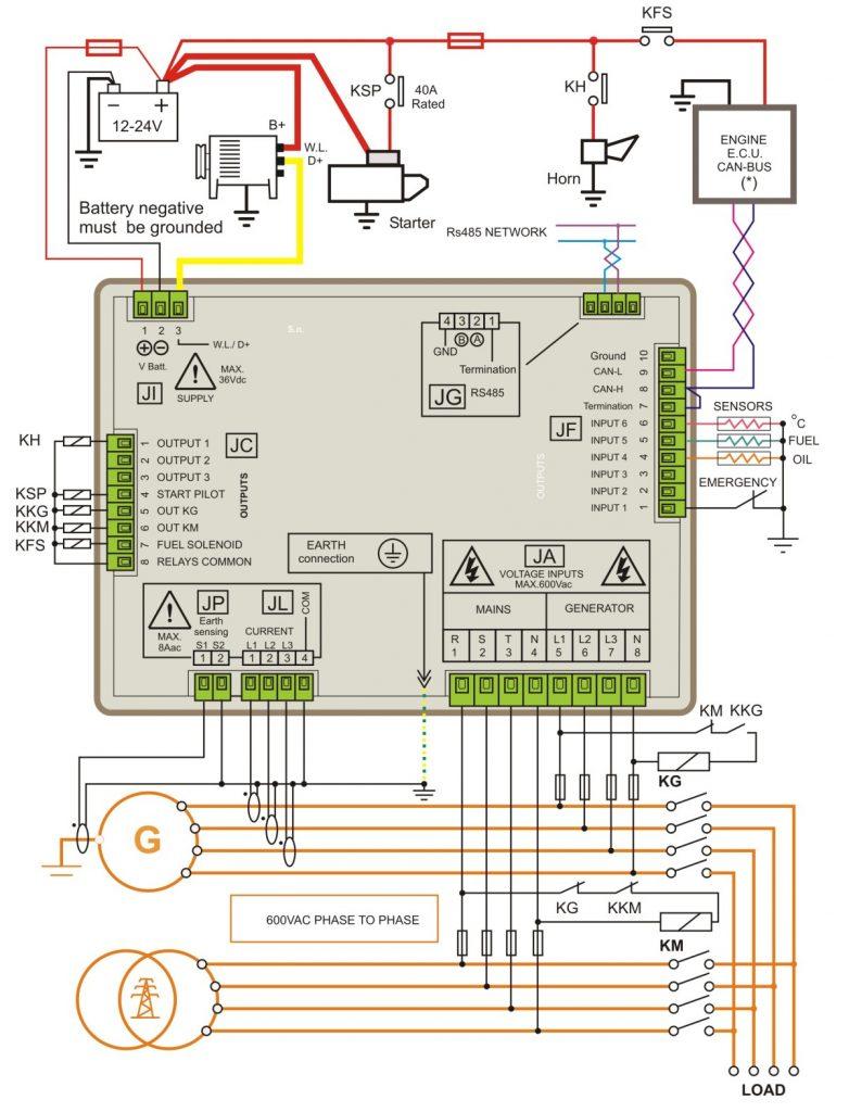 Generator Control Panel Wiring Diagram