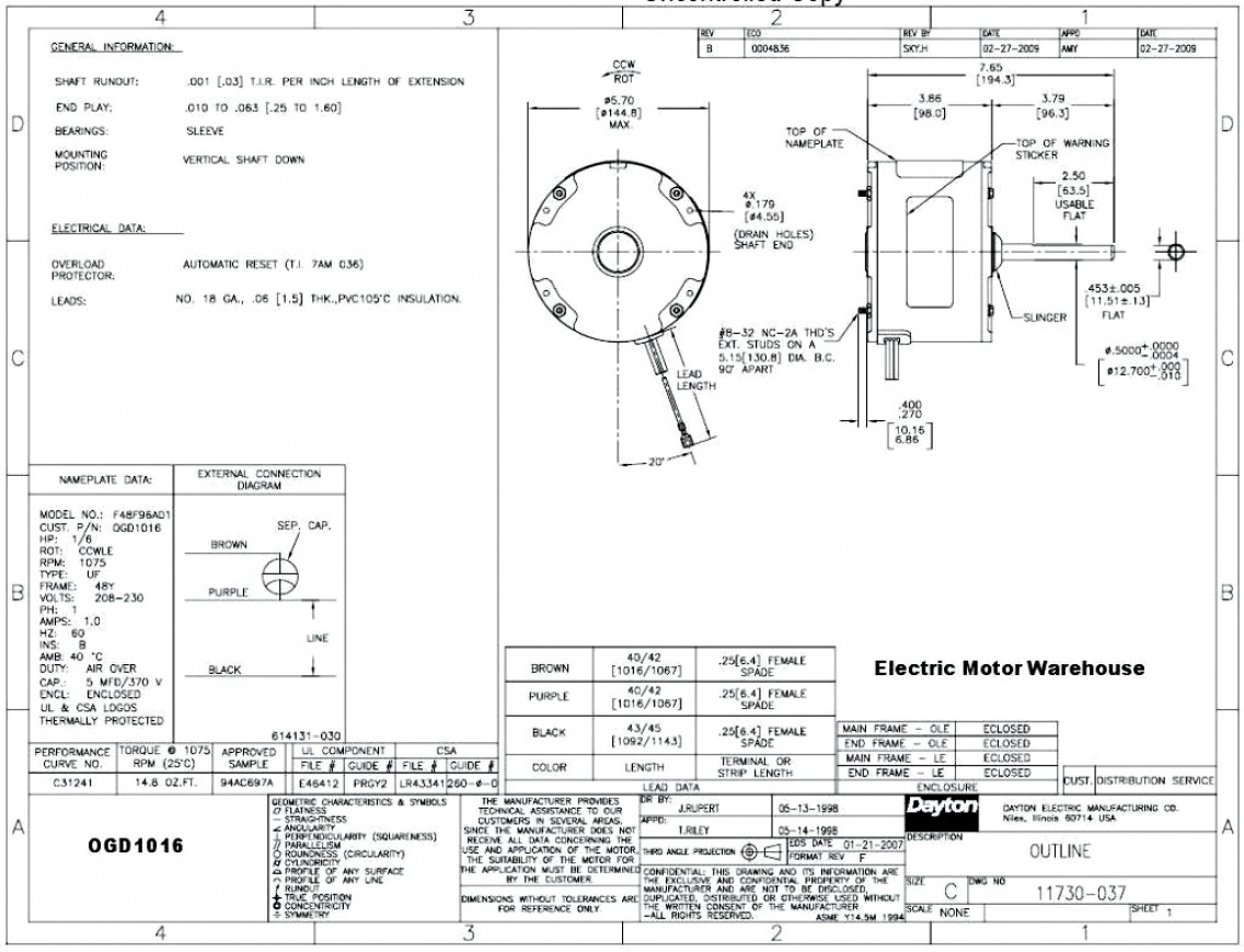 Genteq Motor Wiring Diagram Free Download | Manual E-Books - Genteq Motor Wiring Diagram