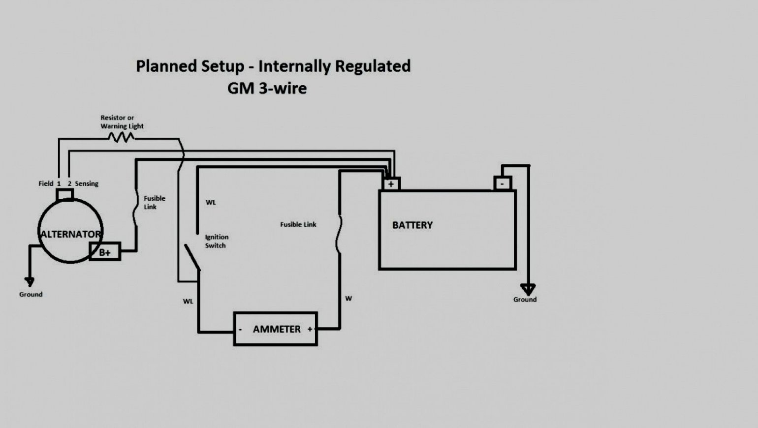 Gm 3 1 Wiring | Wiring Diagram - Gm 1 Wire Alternator Wiring Diagram