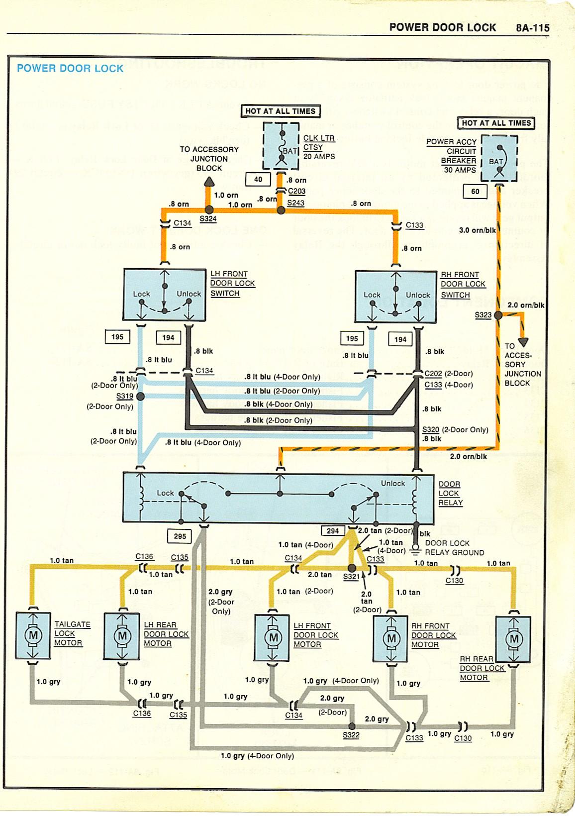 Gm Door Lock Switch Wiring Diagram   Wiring Diagram - Power Door Lock Wiring Diagram