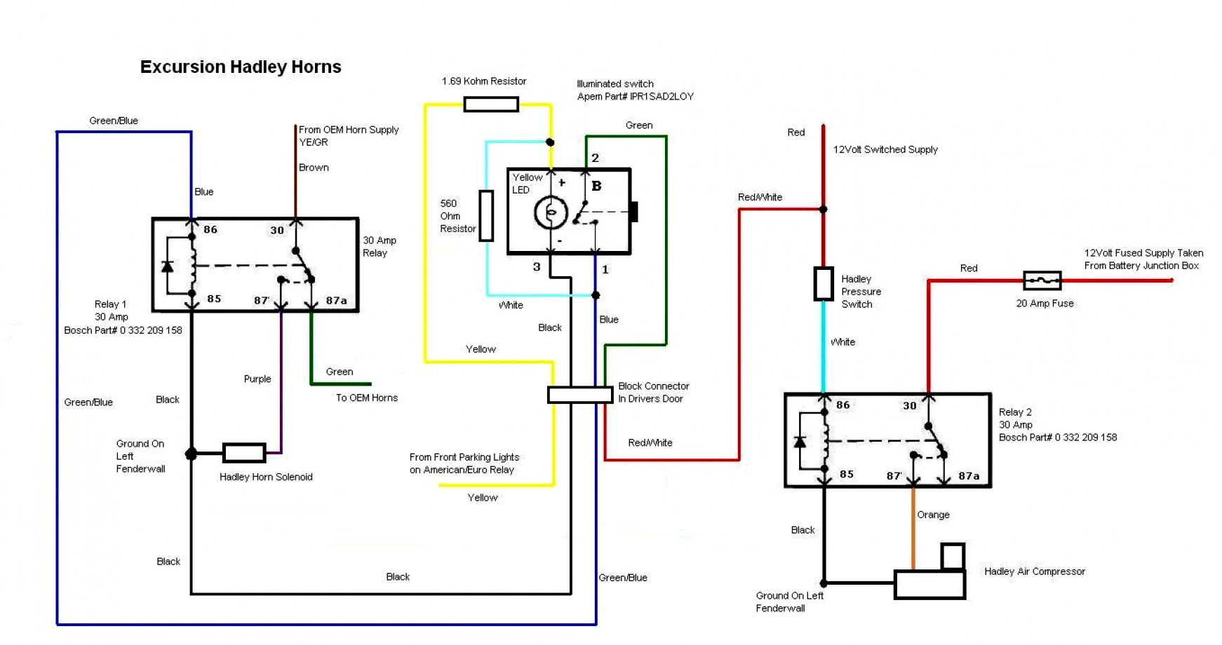 Gm Horn Wiring | Wiring Library - Horn Relay Wiring Diagram
