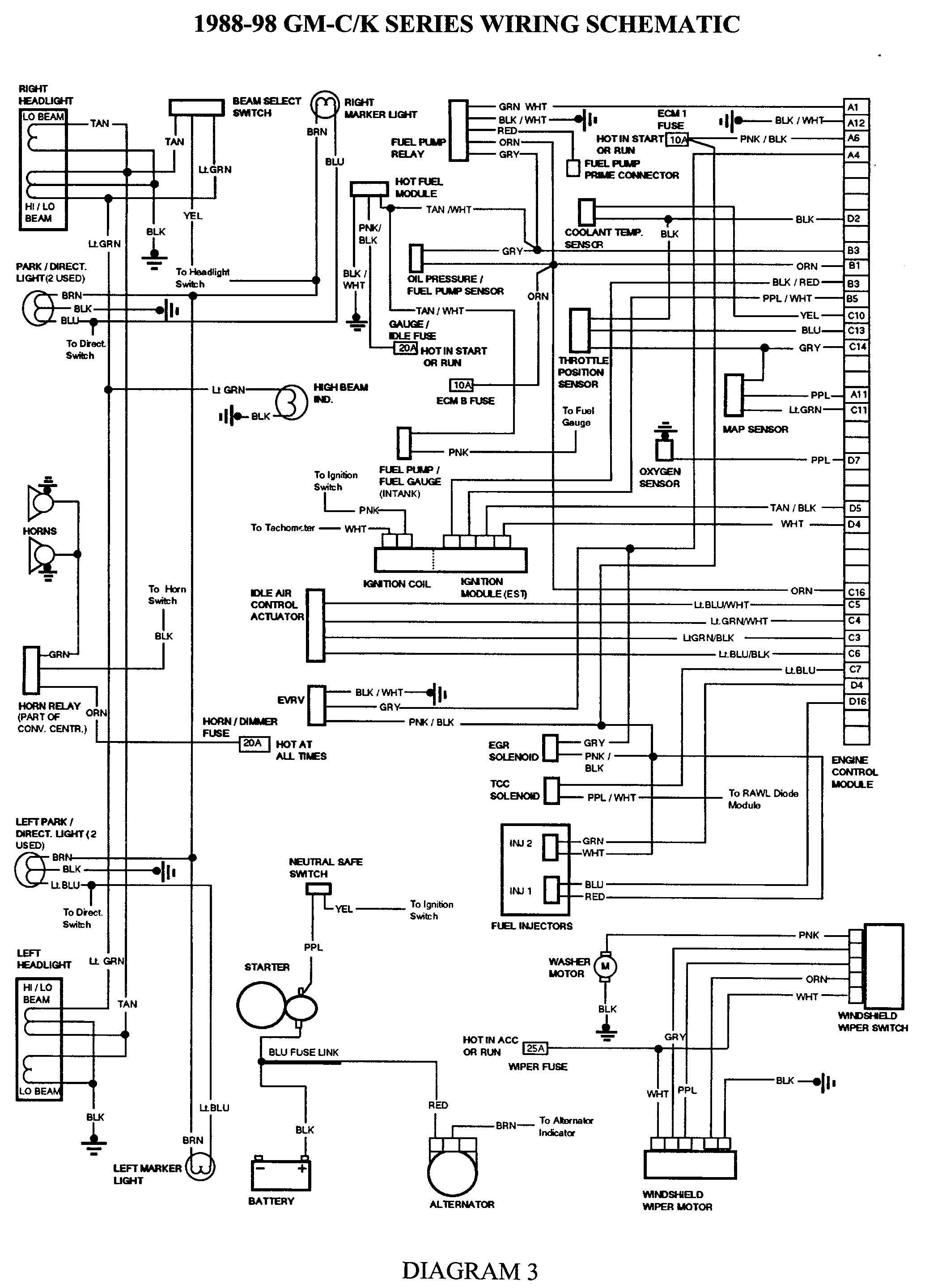 Gmc Truck Wiring Diagrams On Gm Wiring Harness Diagram 88 98 | Kc - 1988 Chevy Truck Wiring Diagram