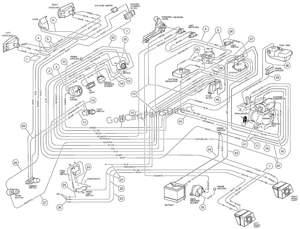 Golf Cart Wiring Diagrams Club Car Lights   Wiring Diagram - Club Car Precedent Light Kit Wiring Diagram