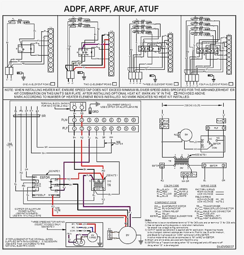 Goodman Aruf Air Handler Wiring Diagram Sample | Wiring Diagram Sample - Goodman Heat Pump Thermostat Wiring Diagram