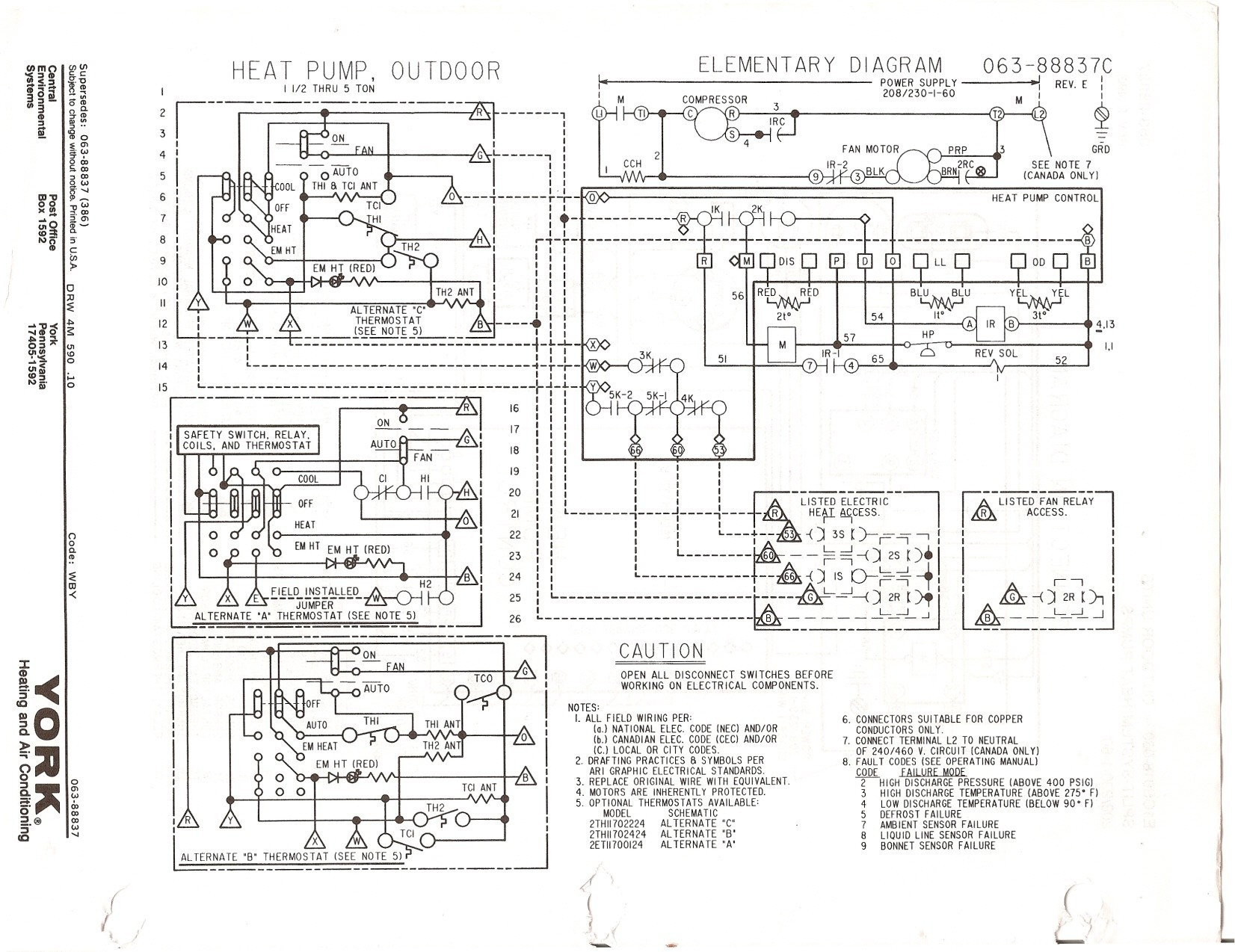 Goodman Heat Pump Thermostat Wiring Diagram New Generous York Air - Goodman Heat Pump Wiring Diagram