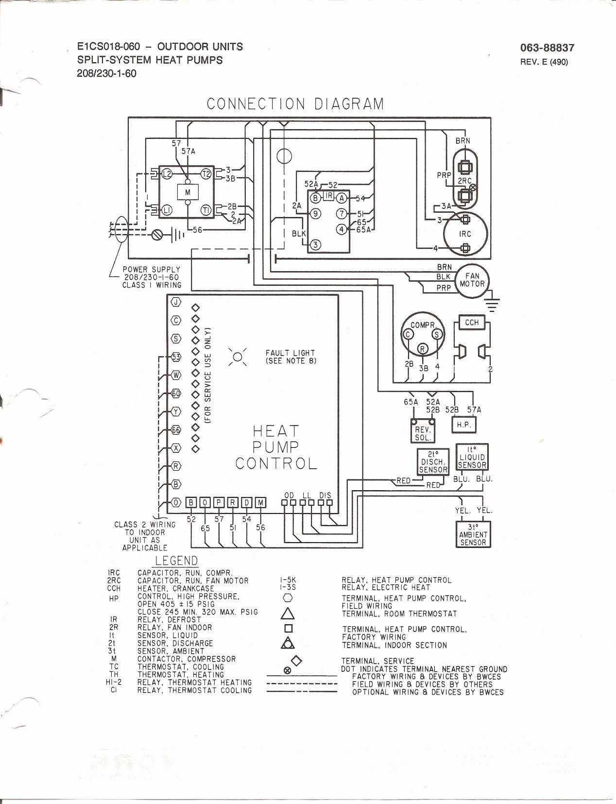Goodman Heat Pump Thermostat Wiring Diagram Unique Heat Pump - Goodman Heat Pump Thermostat Wiring Diagram