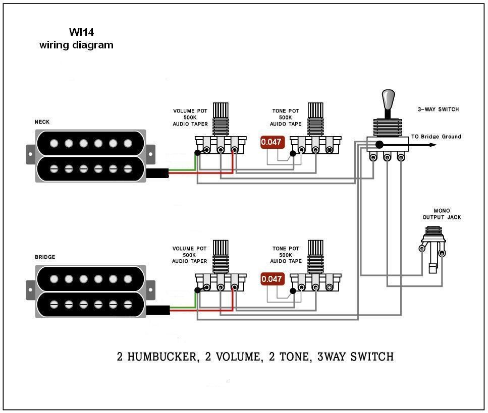 Guitar Wiring Schematics - Wiring Diagrams Hubs - Guitar Wiring Diagram 2 Humbucker 1 Volume 1 Tone