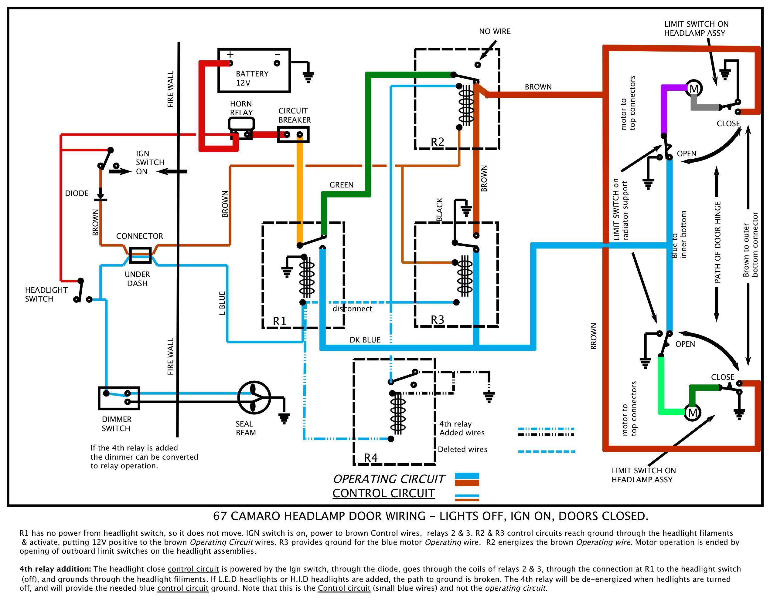 H4 Wiring Upgrade Diagram 67 Camaro | Wiring Diagram - H4 Wiring Diagram