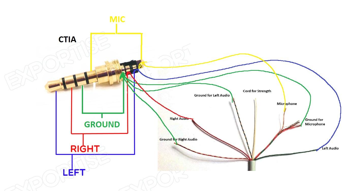 Headphones Volume Controls Do Not Work After 4 Pole Jack Repair - 4 Pole 3.5Mm Jack Wiring Diagram
