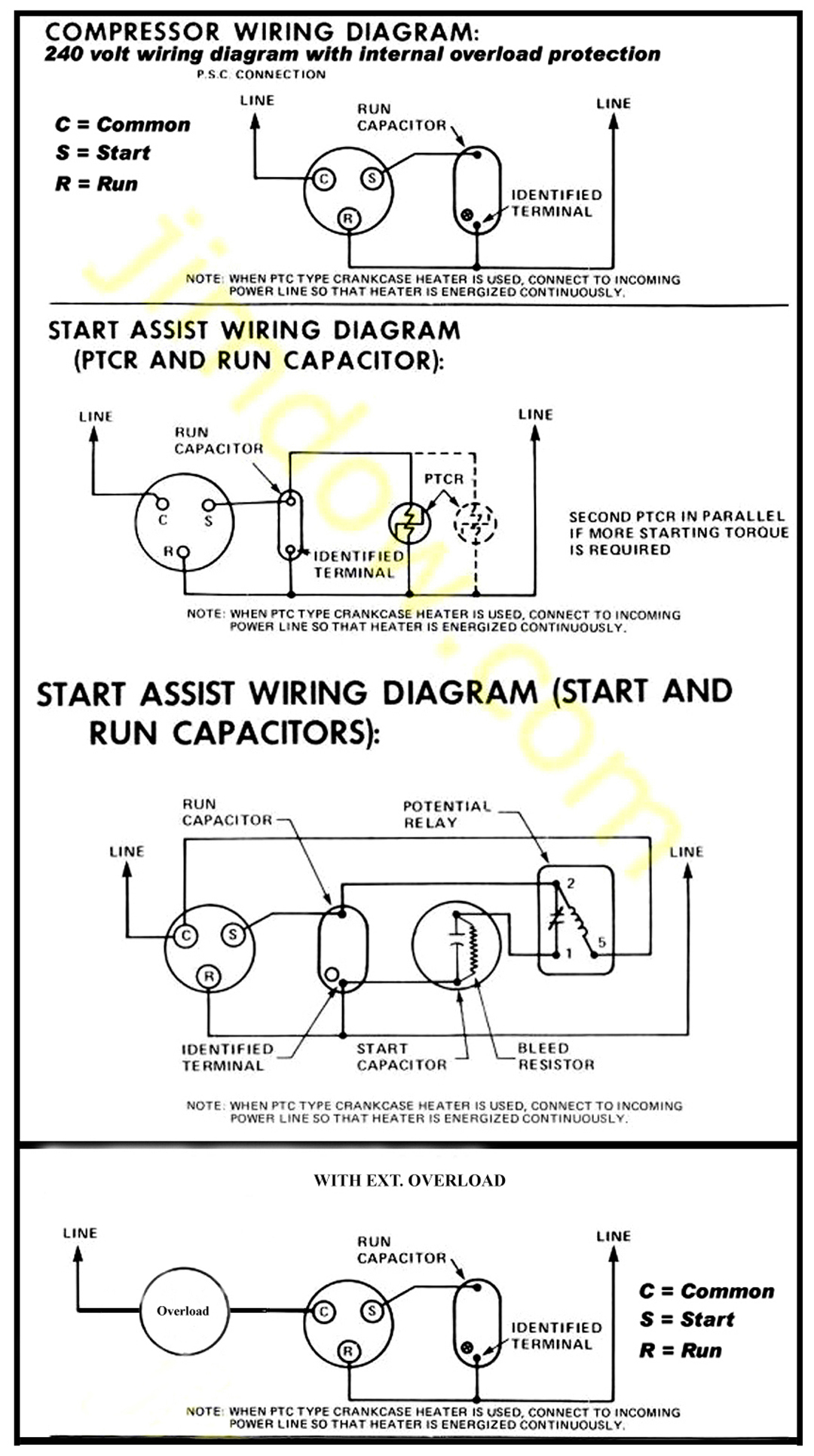 Heat Pump Compressor Wiring Diagram | Manual E-Books - Compressor Wiring Diagram