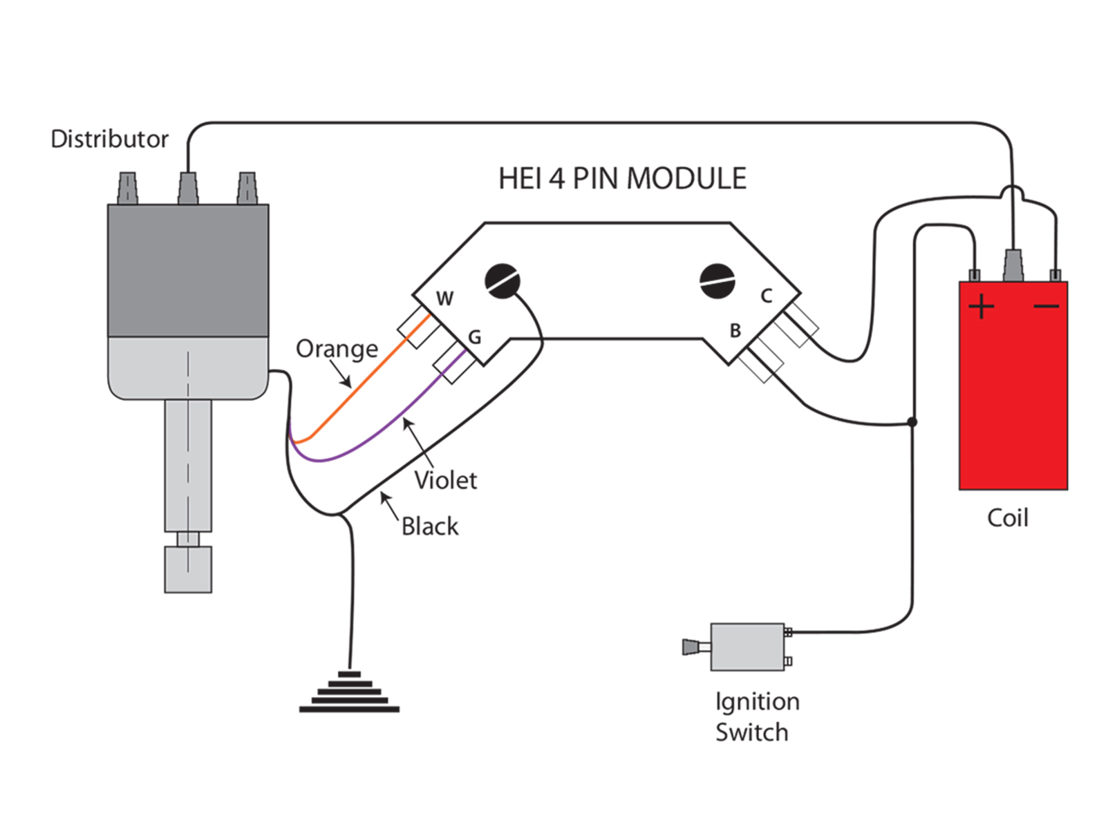 Hei Distributor Wire Diagram For Mopar | Manual E-Books - Hei Distributor Wiring Diagram