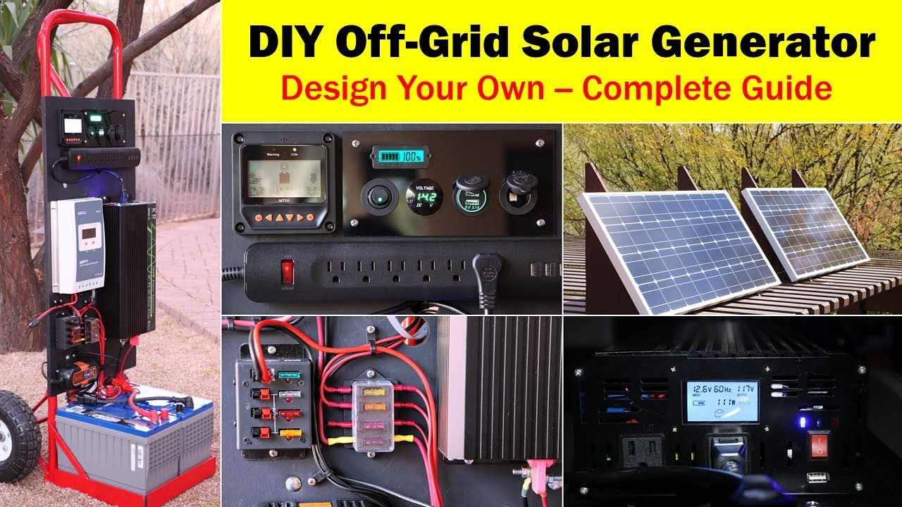 High-Capacity Off-Grid Solar Generator (Rev 4) -- Wiring Diagram - Off Grid Solar System Wiring Diagram