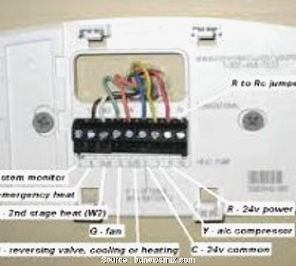Honeywell Rth2300/Rth221 Wiring Diagram from 2020cadillac.com