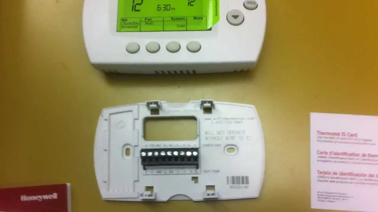 Honeywell Wi-Fi Thermostat Install - Part 3 - Youtube - Honeywell Wifi Thermostat Wiring Diagram